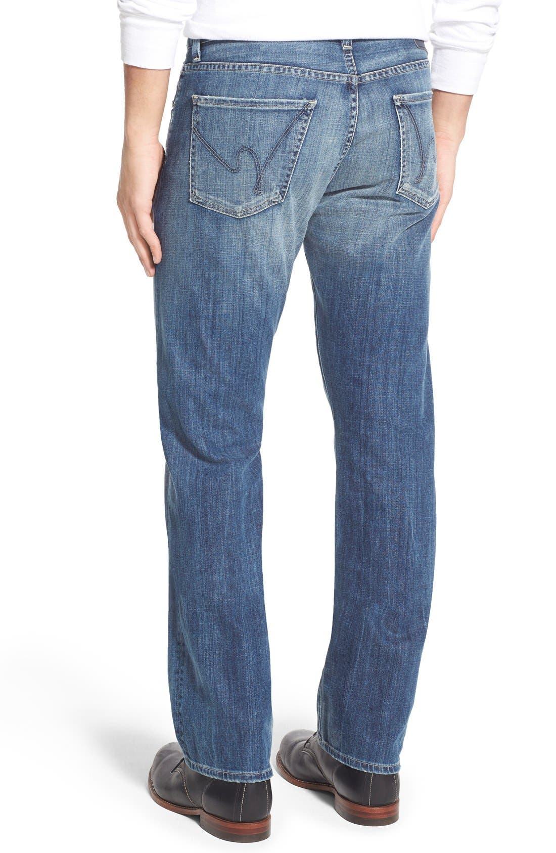 'Sid' Straight Leg Jeans,                             Alternate thumbnail 5, color,                             430