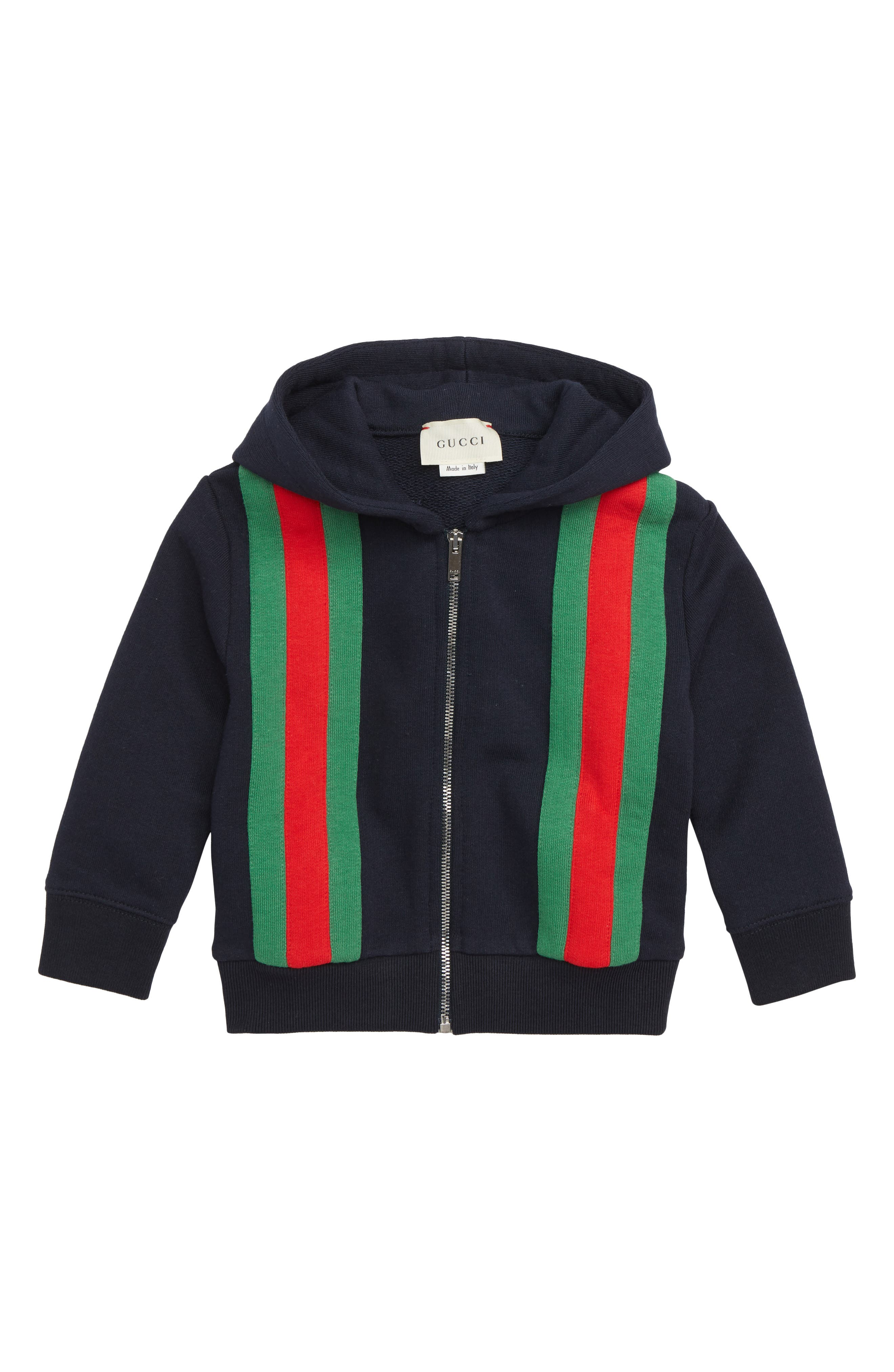 Stripe Zip Hoodie,                             Main thumbnail 1, color,                             URBAN BLUE/ GREEN/ RED