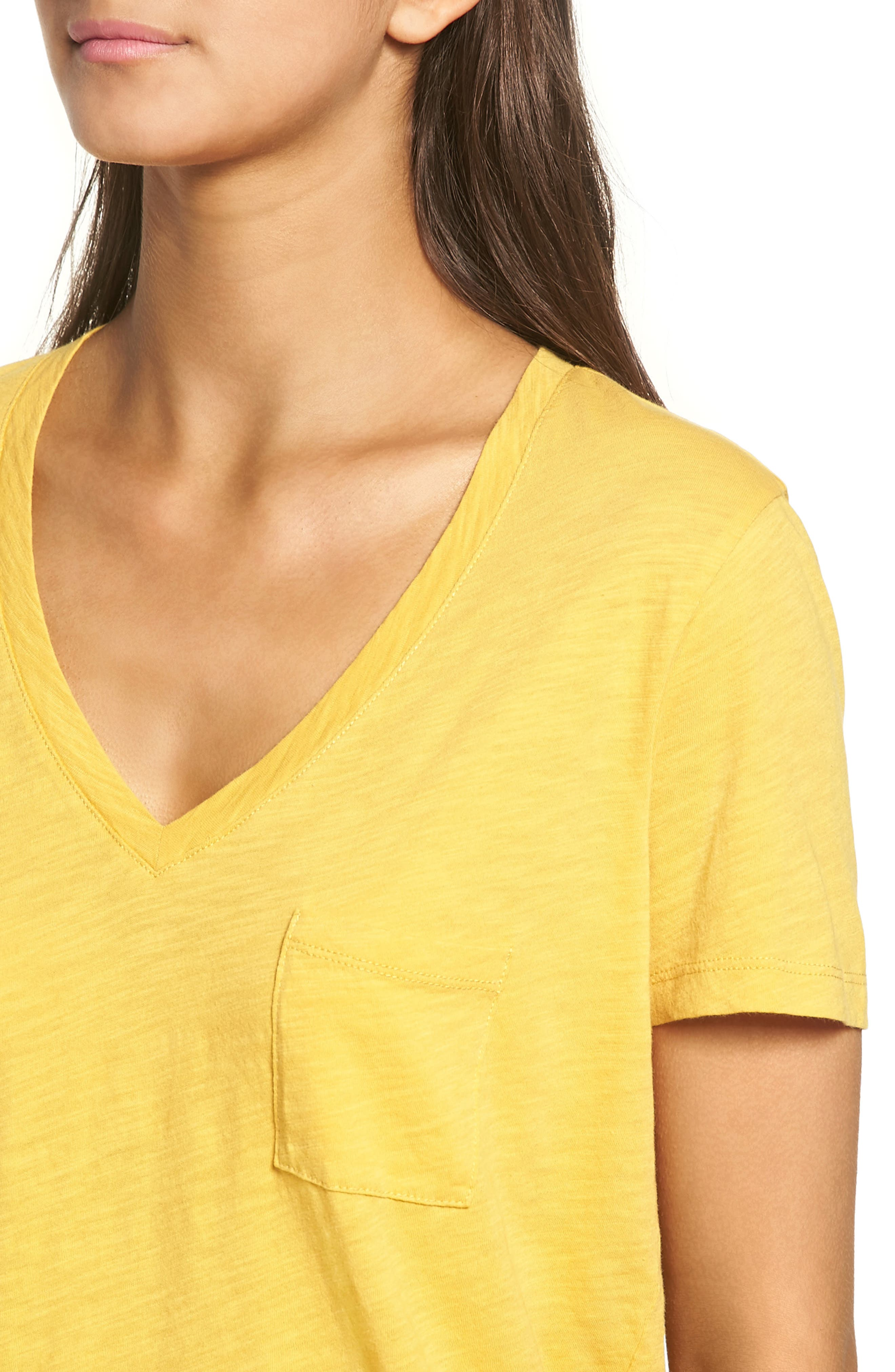 Whisper Cotton V-Neck Pocket Tee,                             Alternate thumbnail 167, color,