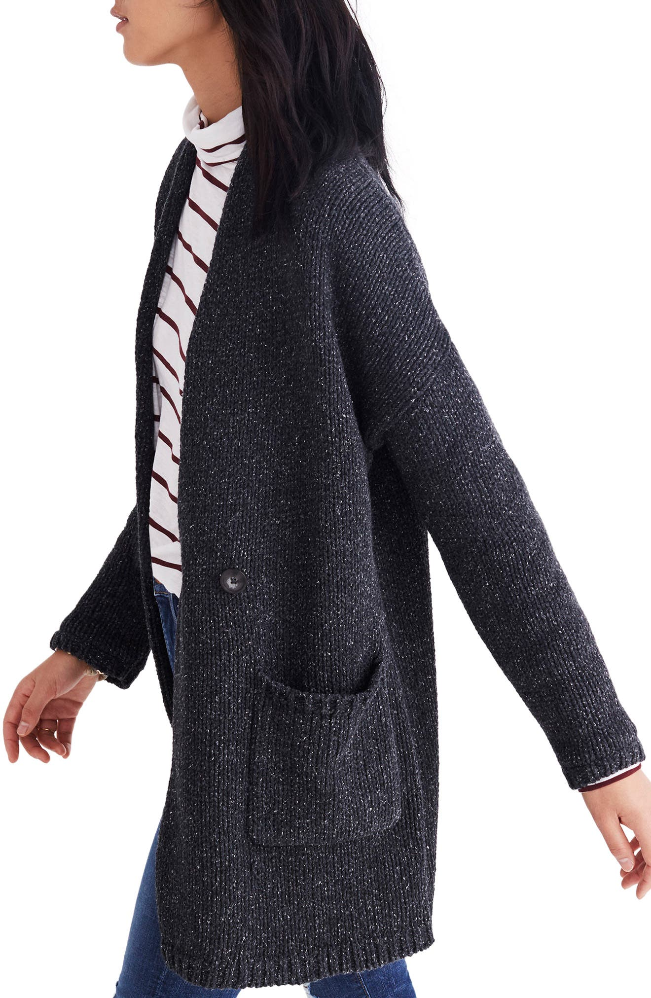 Glenhill Sweater Coat,                             Alternate thumbnail 3, color,                             001