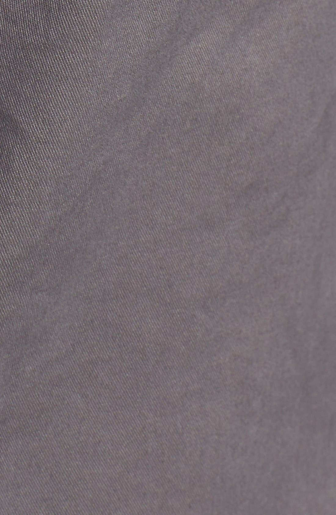 'P55' Slim Fit Stretch Cotton Chinos,                             Alternate thumbnail 5, color,                             CASTLEROCK