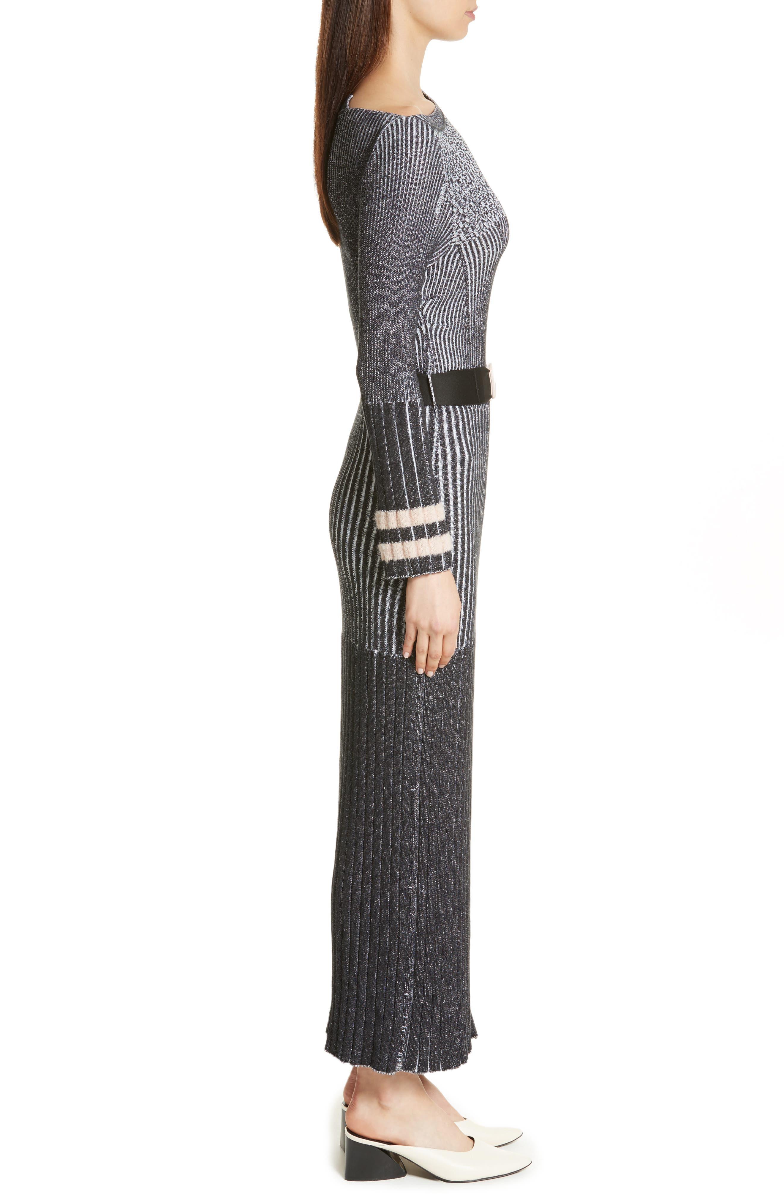 Urge Maxi Sweater Dress,                             Alternate thumbnail 3, color,                             001