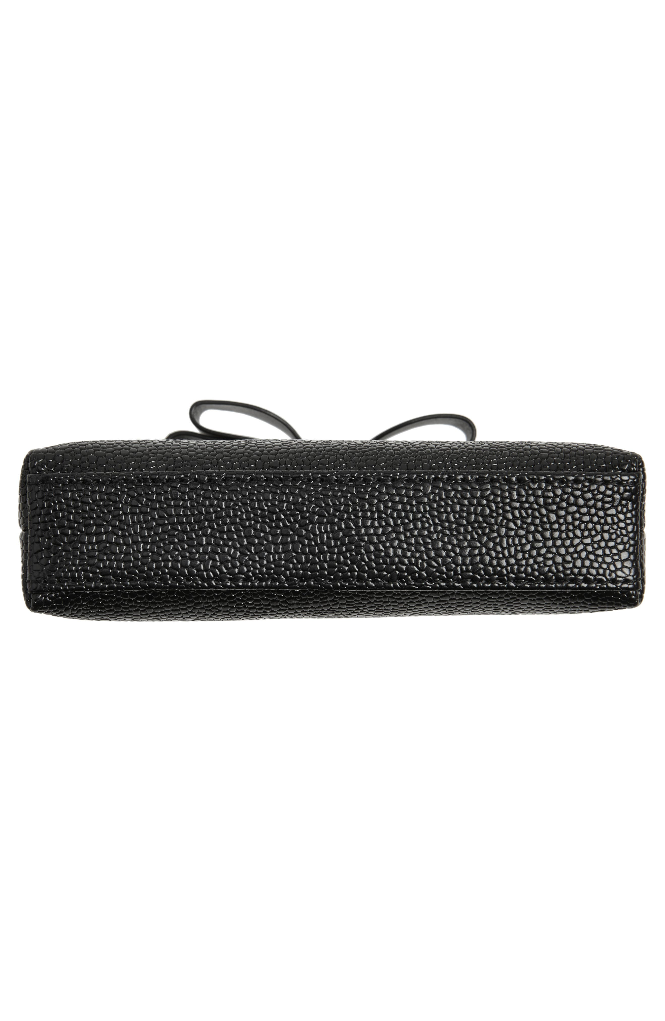Emmahh Bow Small Leather Cosmetics Case,                             Alternate thumbnail 5, color,                             BLACK