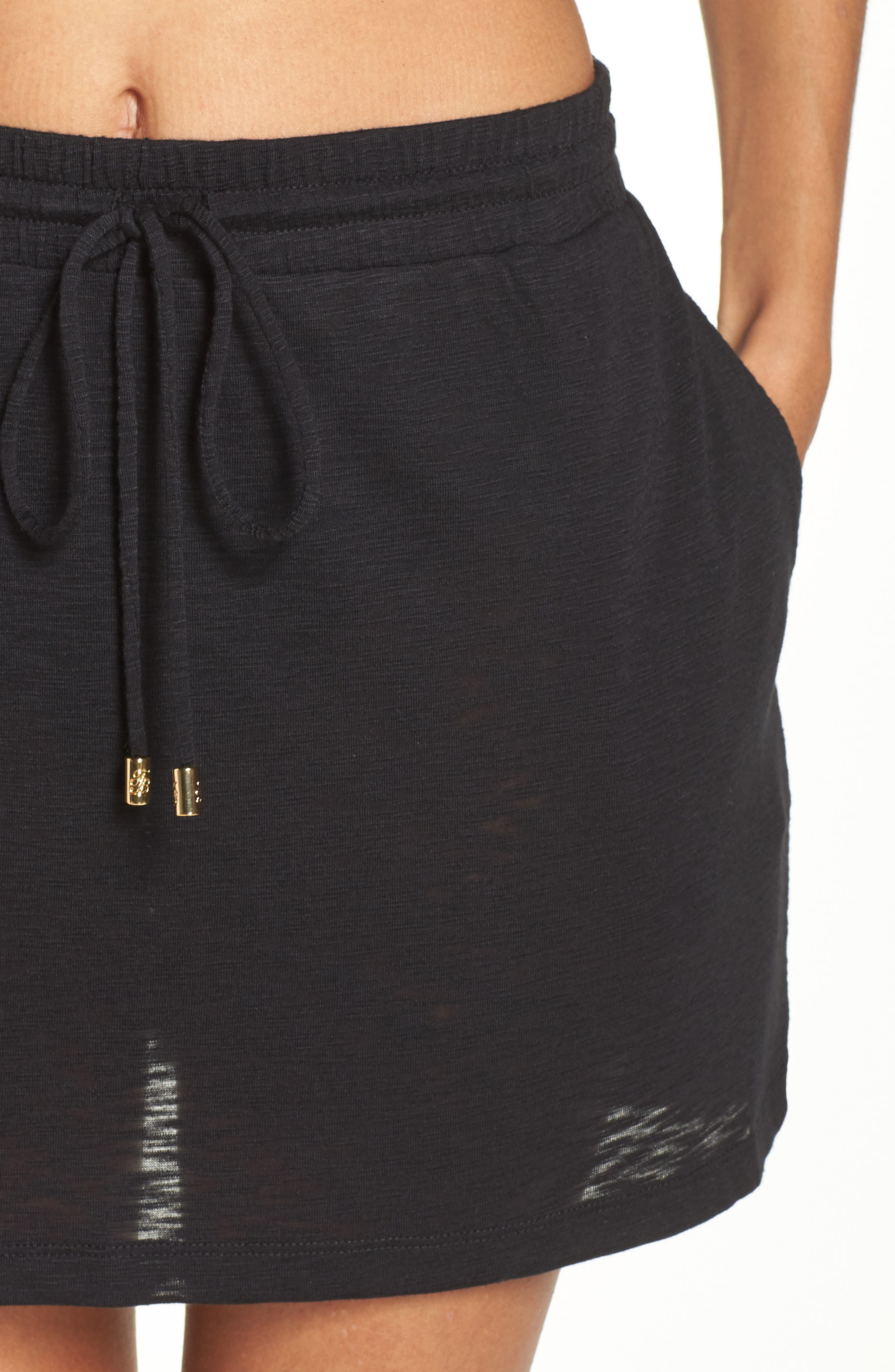 TOMMY BAHAMA,                             Cover-Up Skirt,                             Alternate thumbnail 4, color,                             BLACK