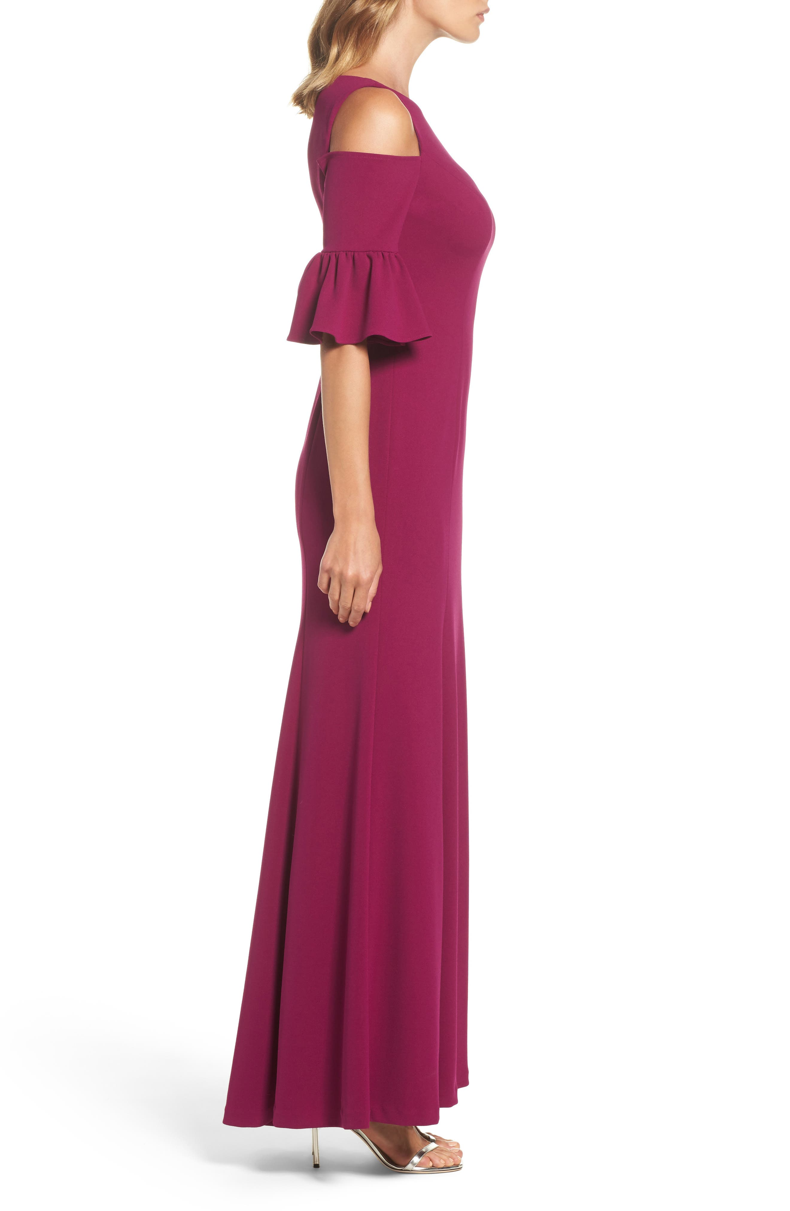 Cold Shoulder Gown,                             Alternate thumbnail 3, color,                             641