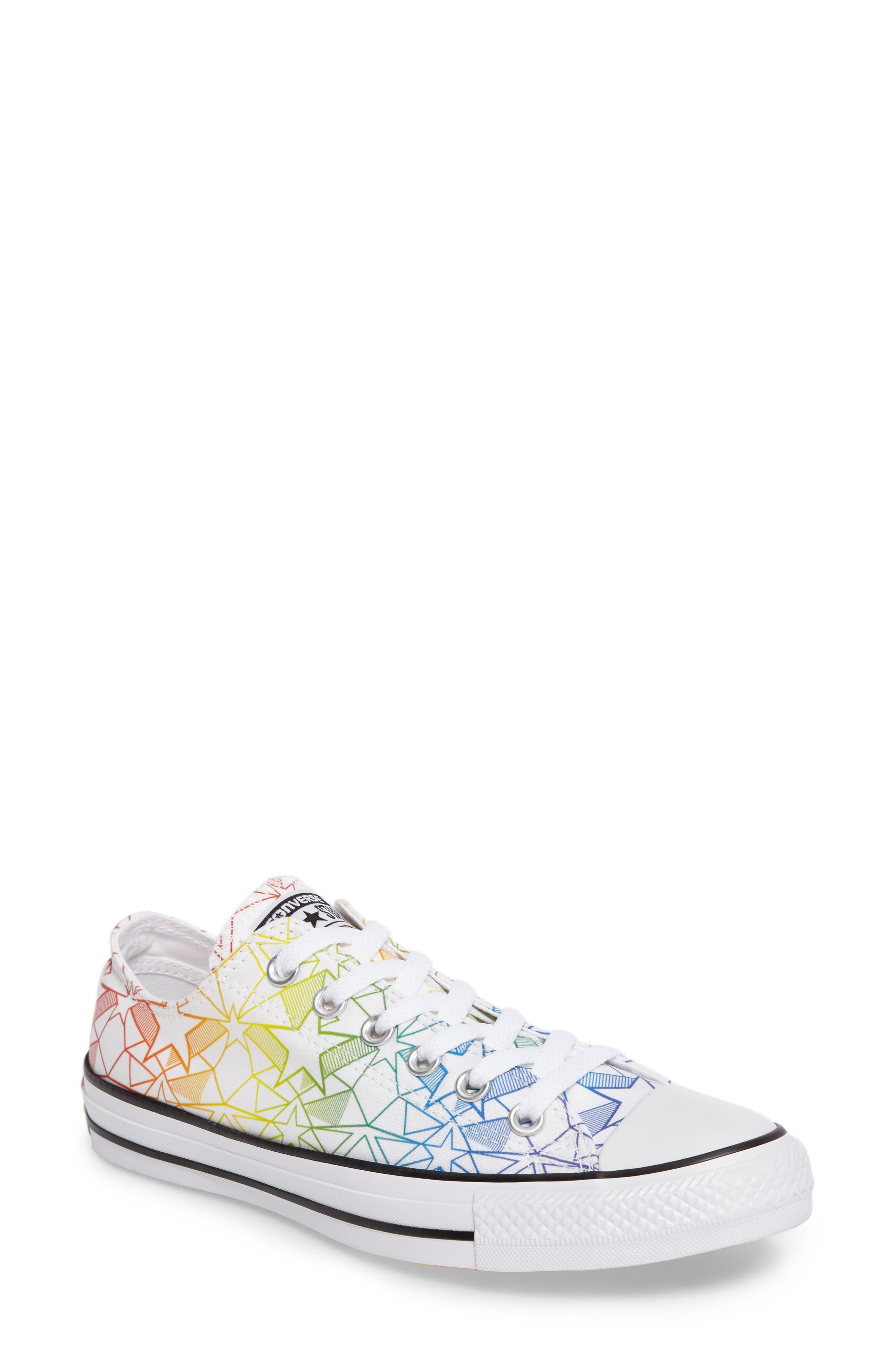 Chuck Taylor<sup>®</sup> All Star<sup>®</sup> Pride Low Top Sneaker,                         Main,                         color, 100