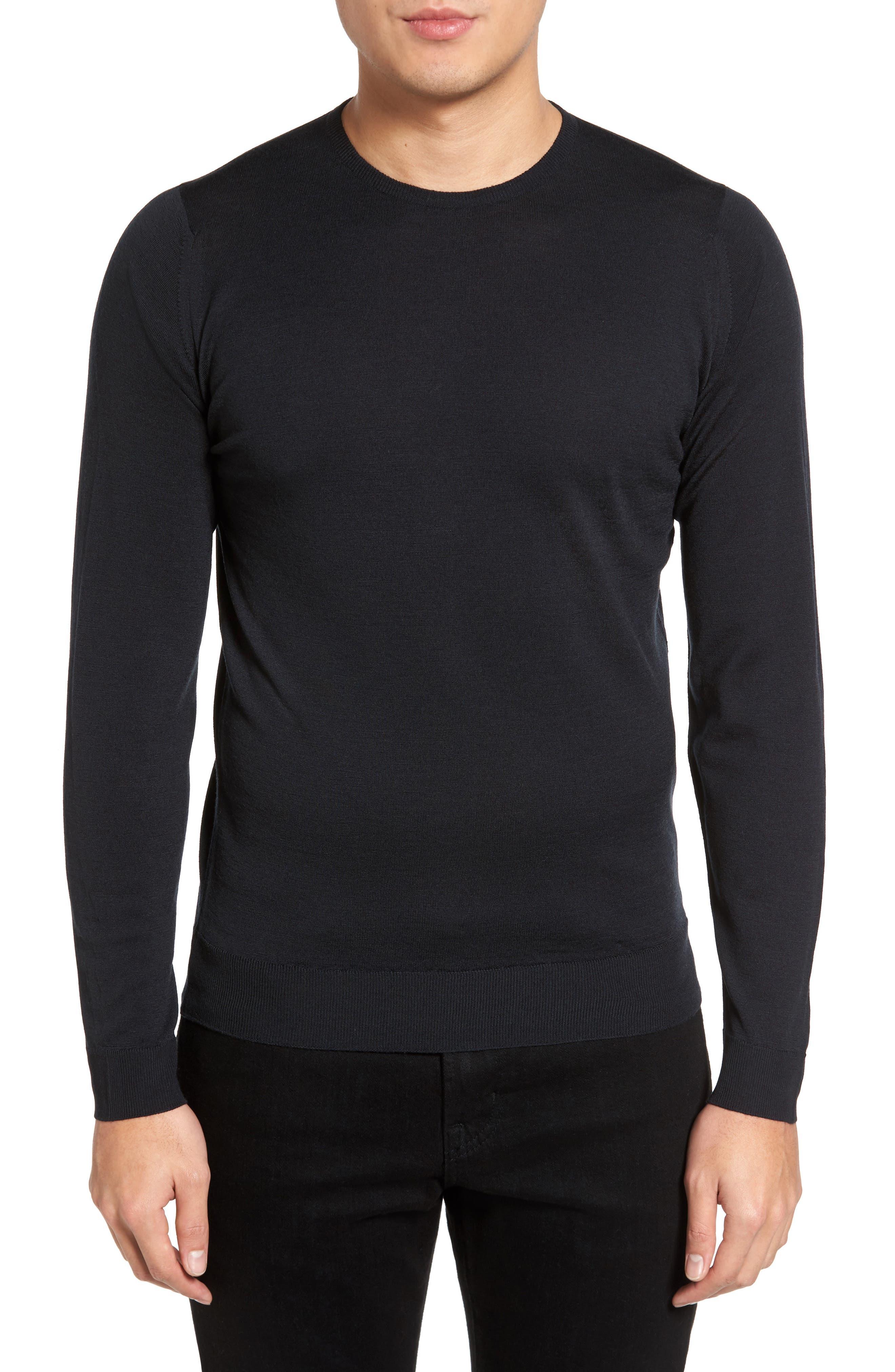 Merino Wool Sweater,                         Main,                         color, 001