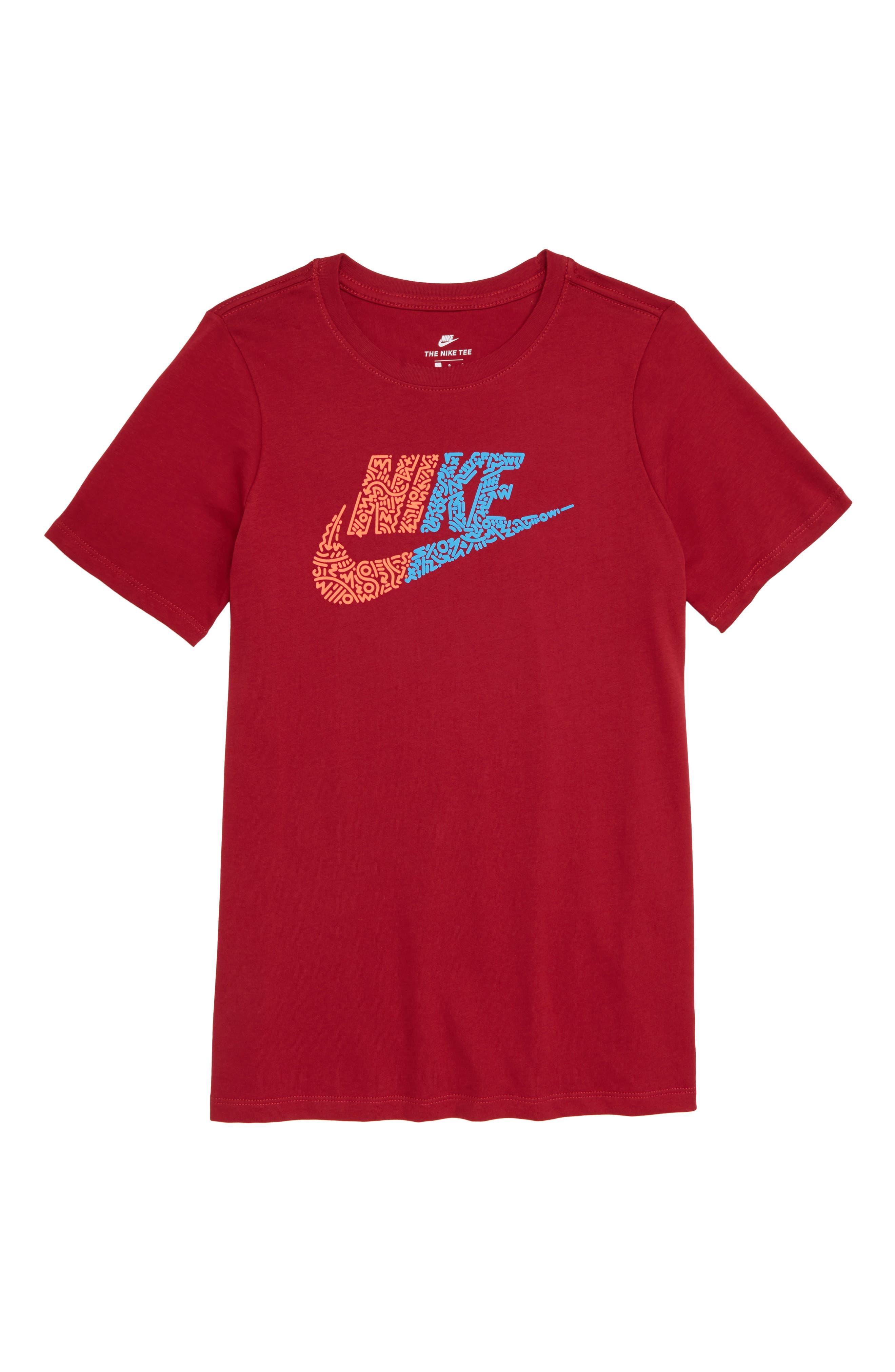 Sportswear Futura T-Shirt,                             Main thumbnail 1, color,                             RED CRUSH/ BRIGHT CRIMSON