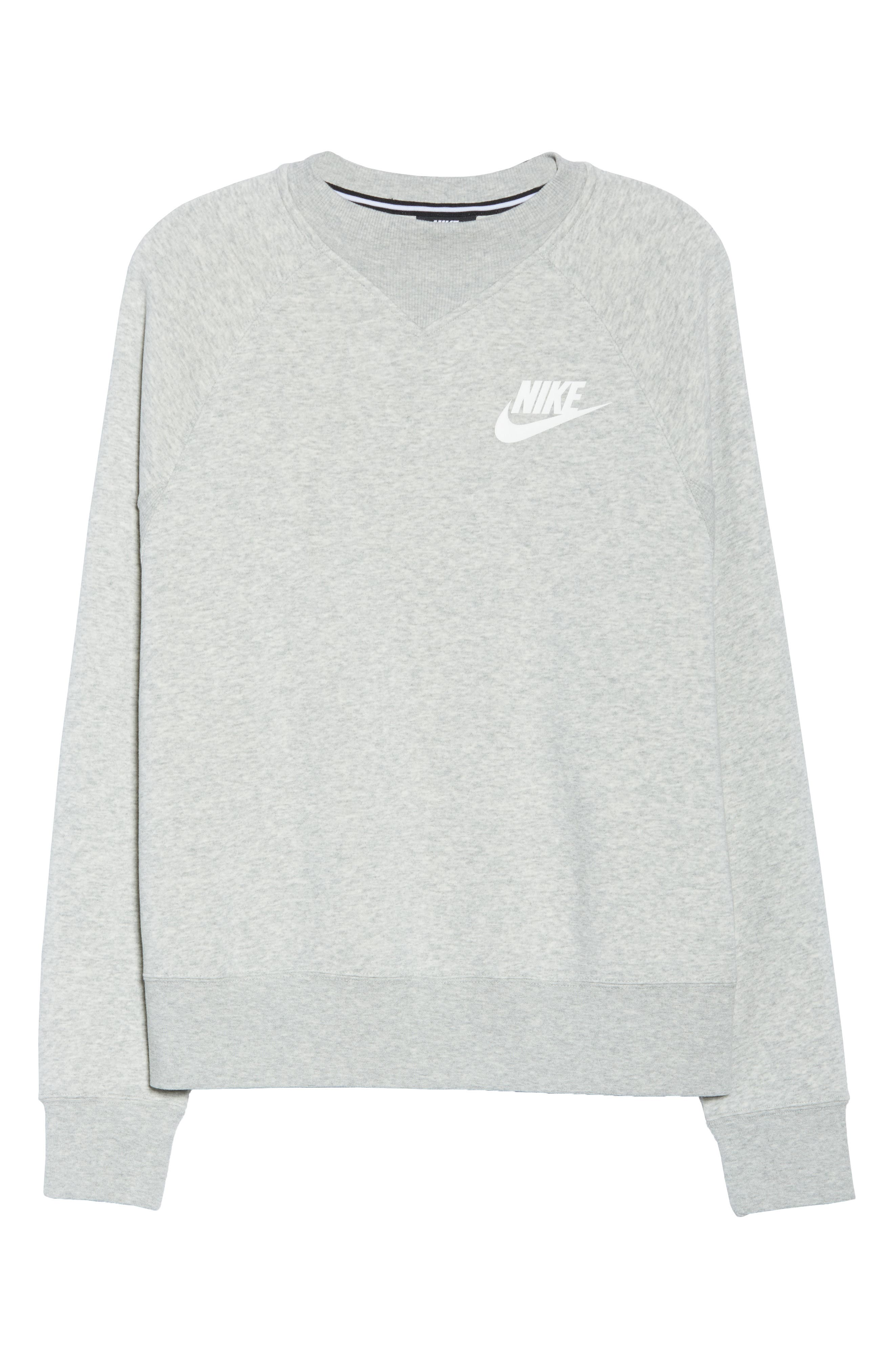 Sportswear Rally Sweatshirt,                             Alternate thumbnail 7, color,                             GREY HEATHER/ WHITE