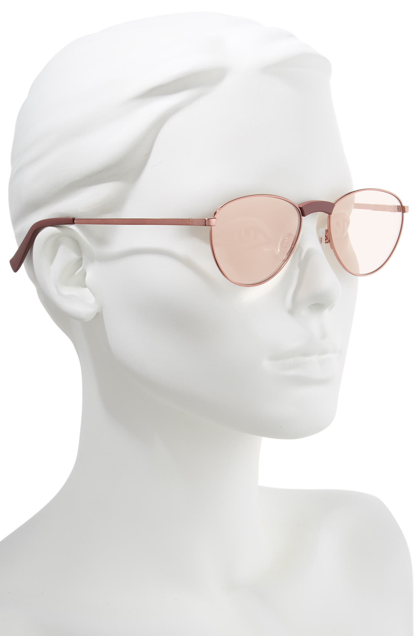 Hot Stuff 52mm Sunglasses,                             Alternate thumbnail 2, color,                             ROSE BROWN