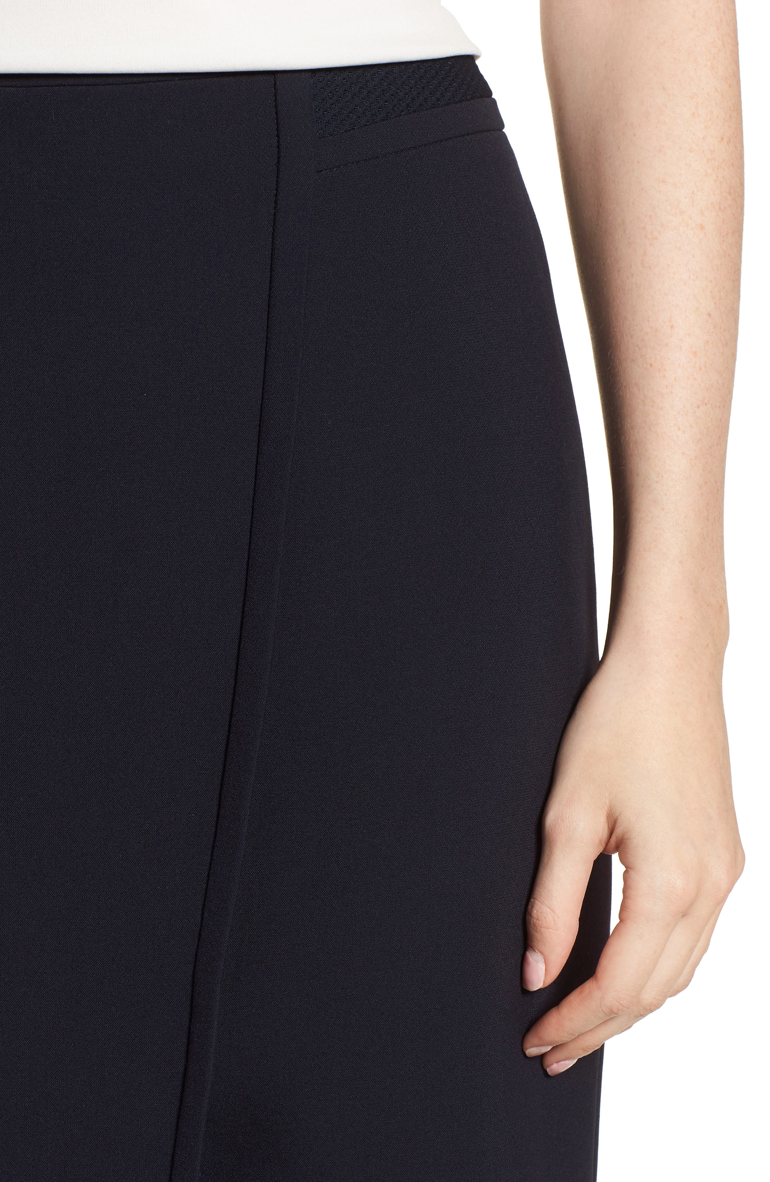 Vadama Ponte Pencil Skirt,                             Alternate thumbnail 4, color,
