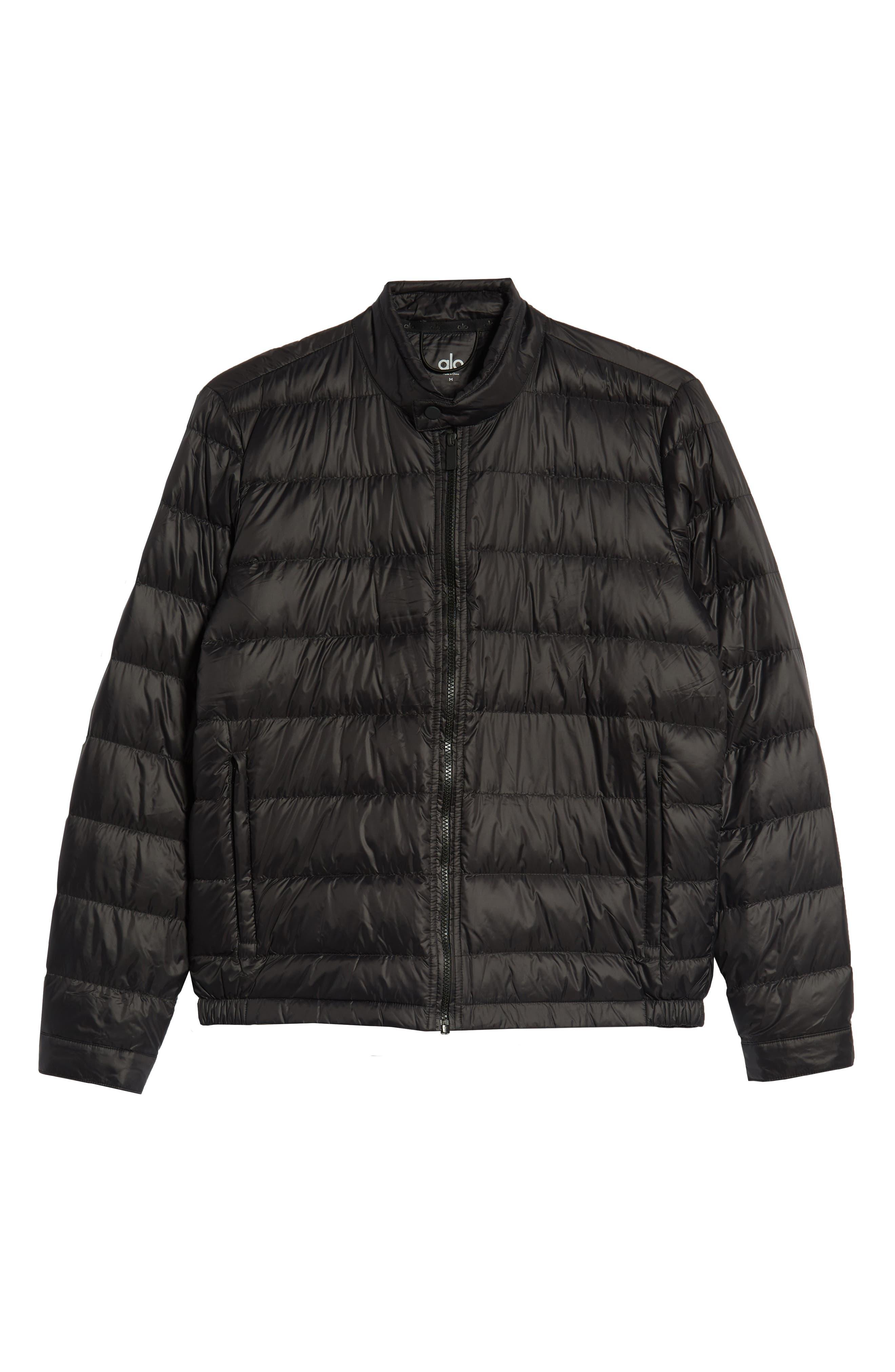 Puffer Jacket,                             Alternate thumbnail 5, color,                             BLACK