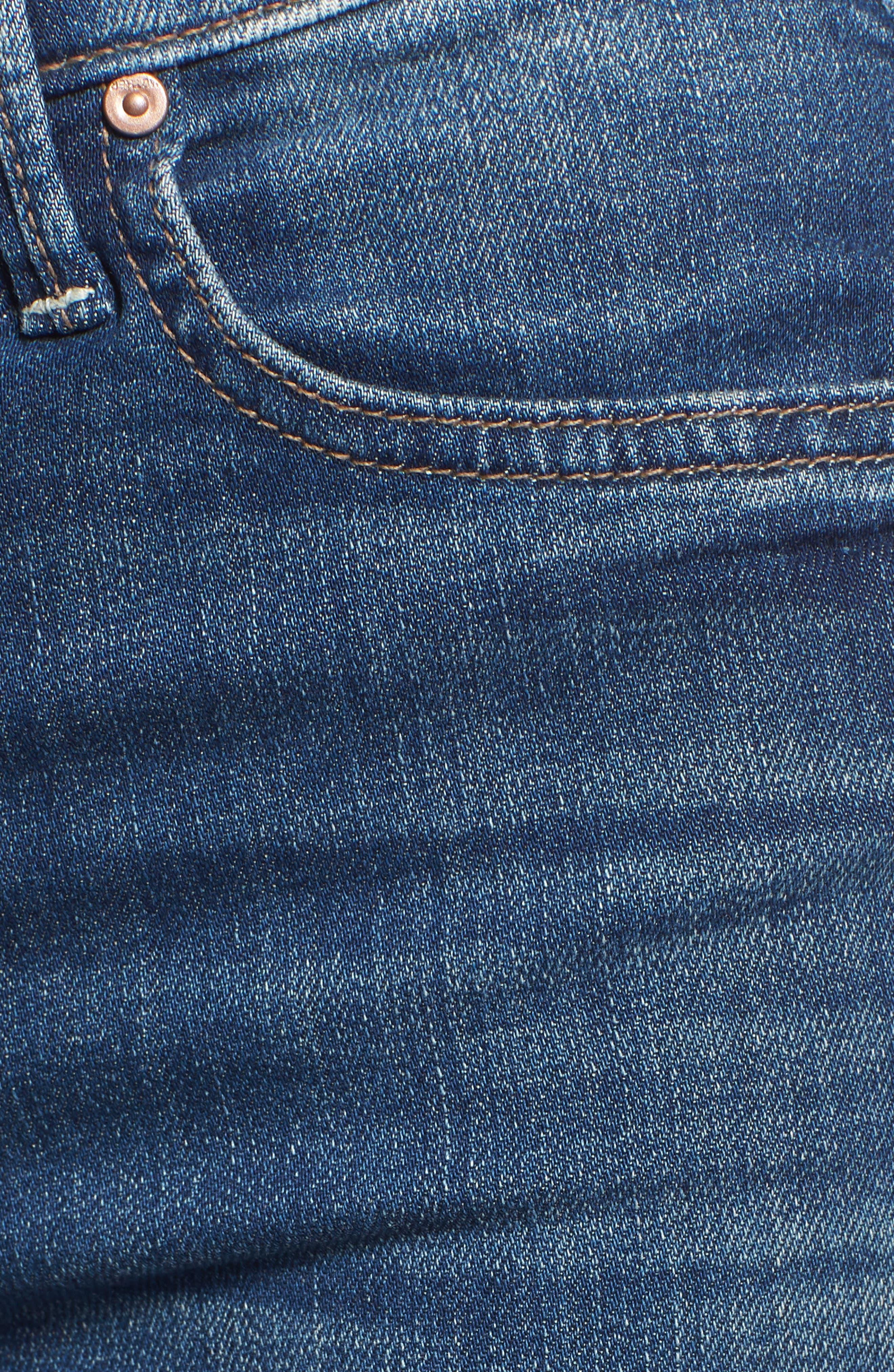 The Rascal Released Hem Straight Leg Jeans,                             Alternate thumbnail 6, color,                             400