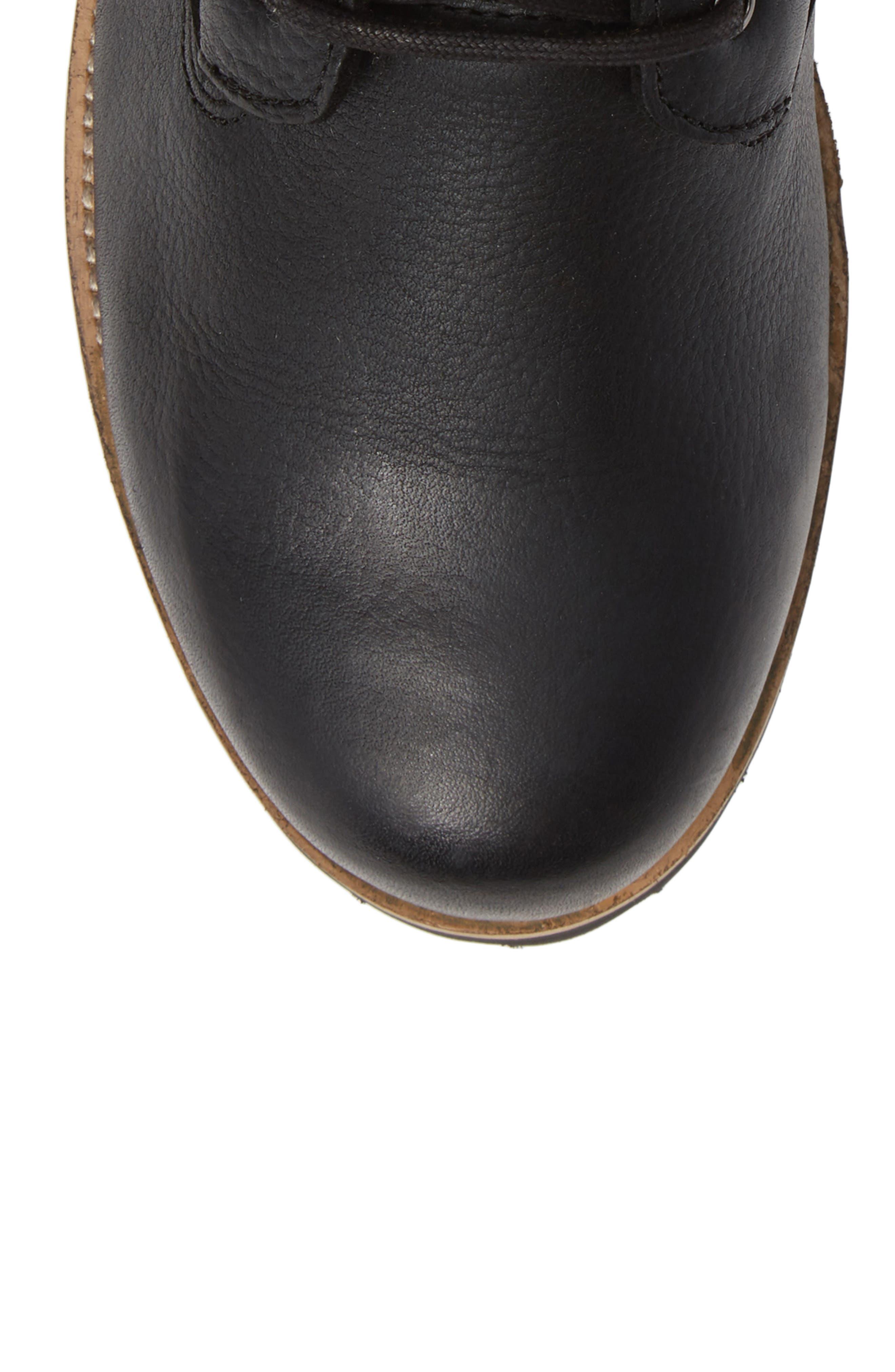 OM60 Waterproof Genuine Shearling Boot,                             Alternate thumbnail 5, color,                             BLACK