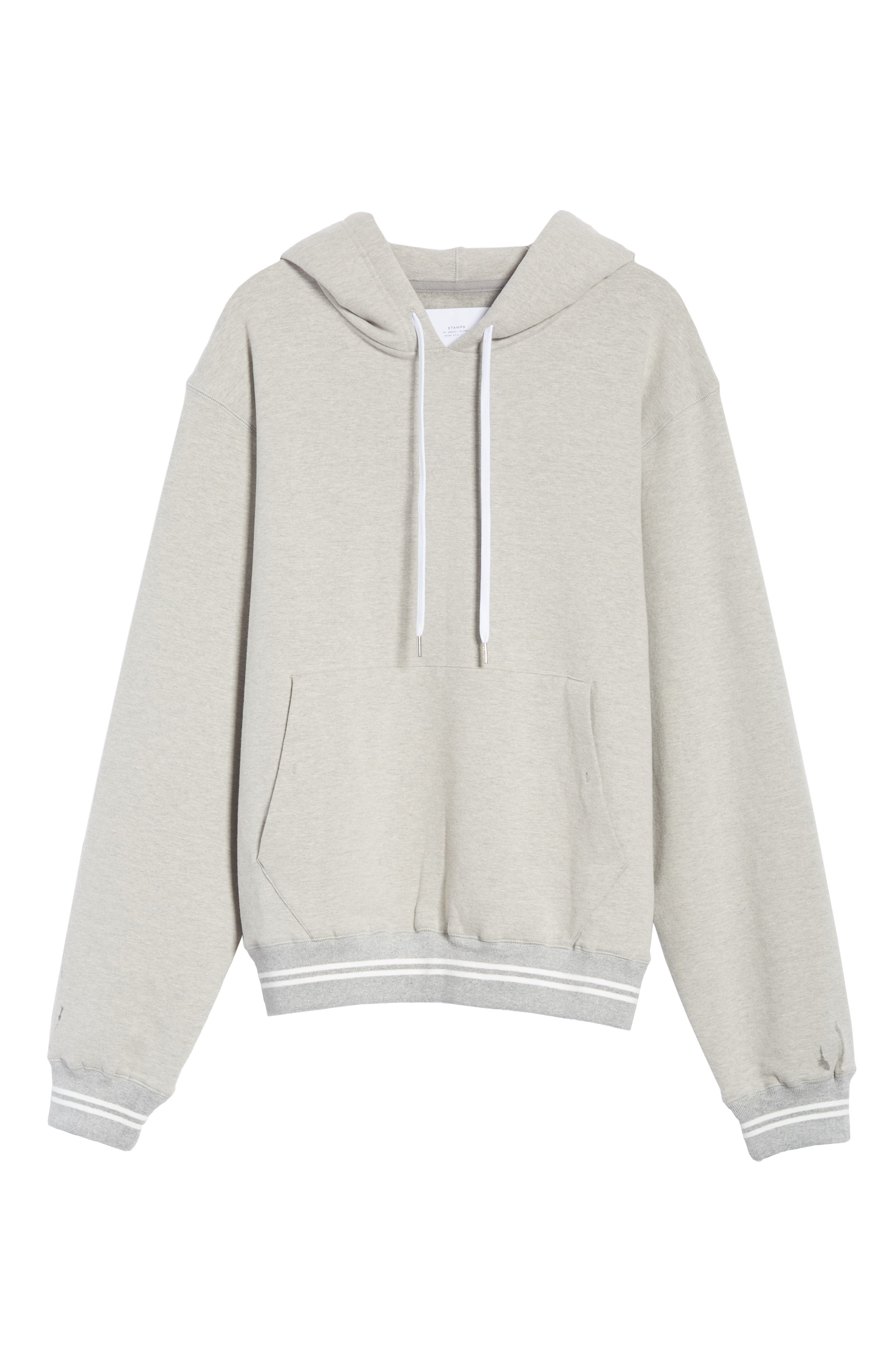 Oversize Hoodie,                             Alternate thumbnail 6, color,                             HEATHER GREY