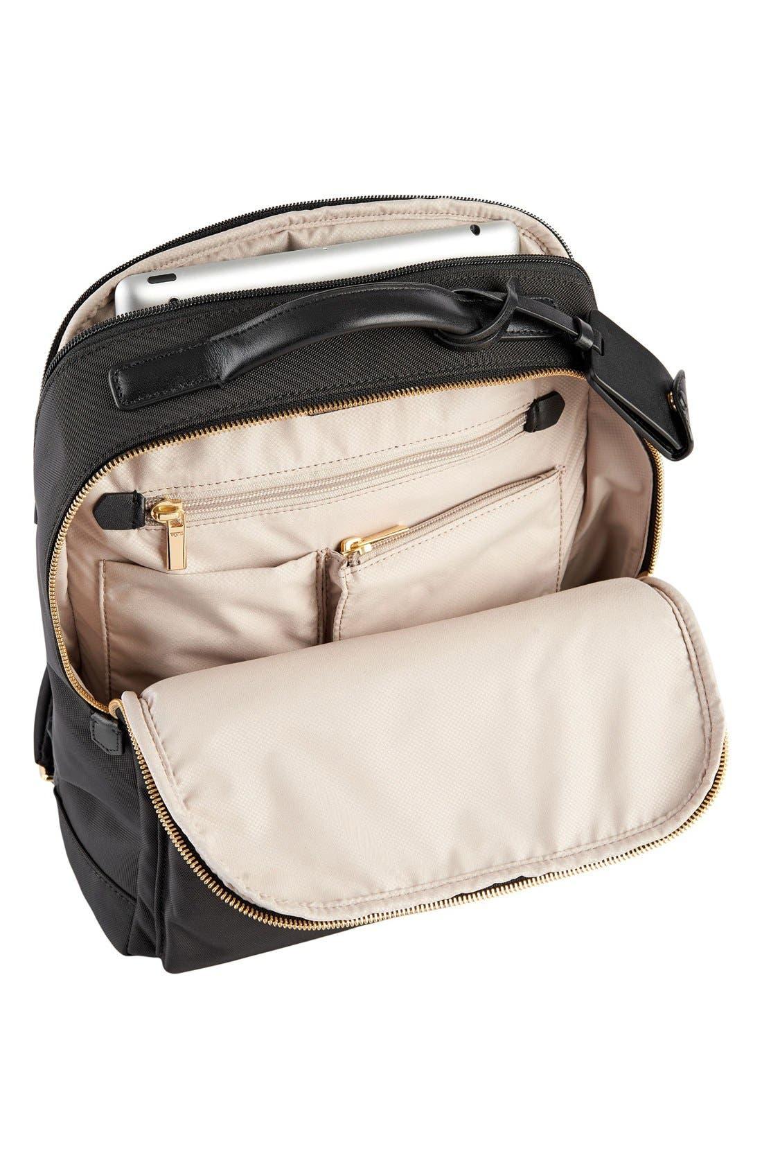 'Larkin Laurel' Nylon Commuter Backpack,                             Alternate thumbnail 4, color,                             001