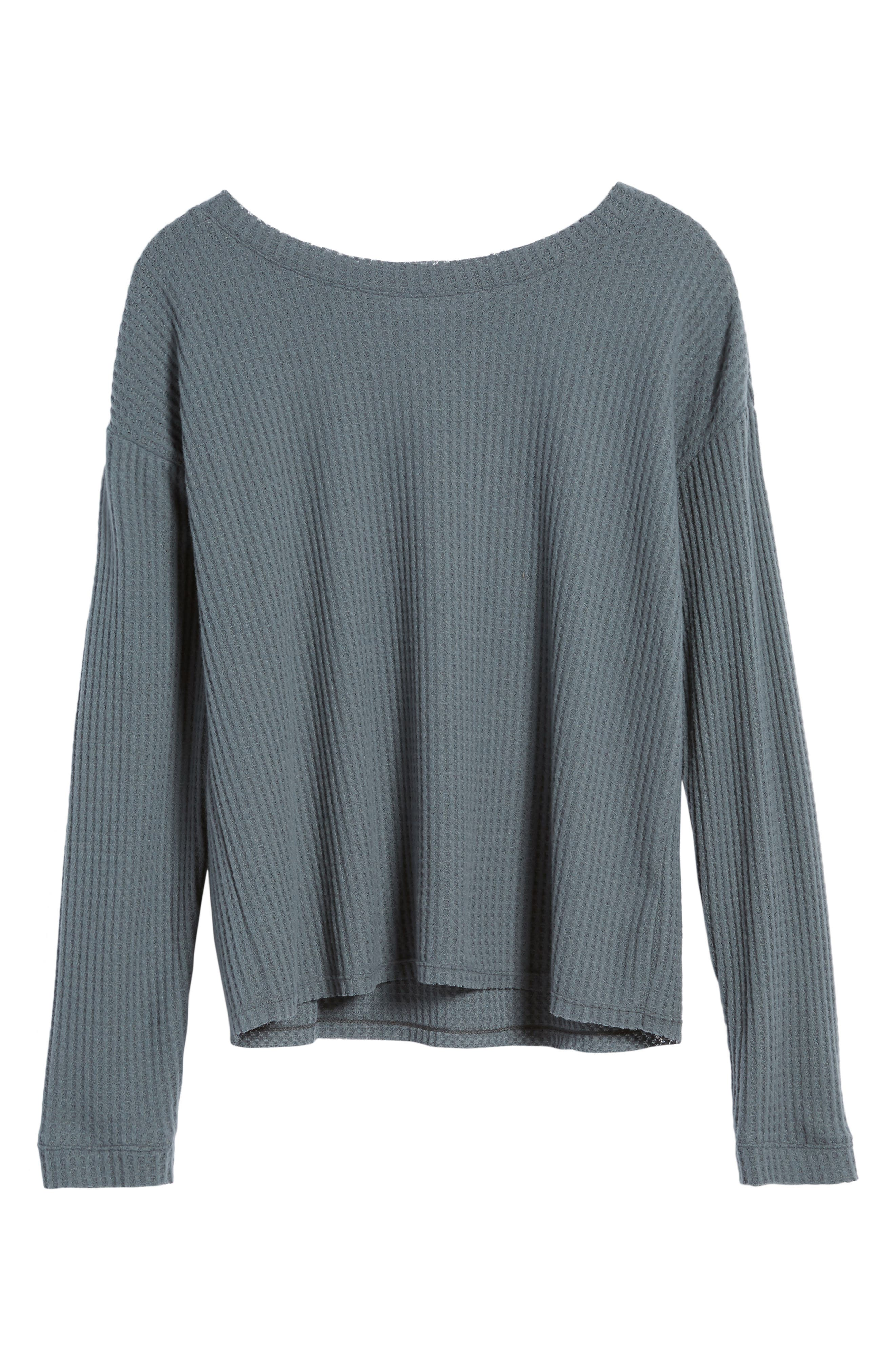 Waffle Knit Top,                             Alternate thumbnail 22, color,