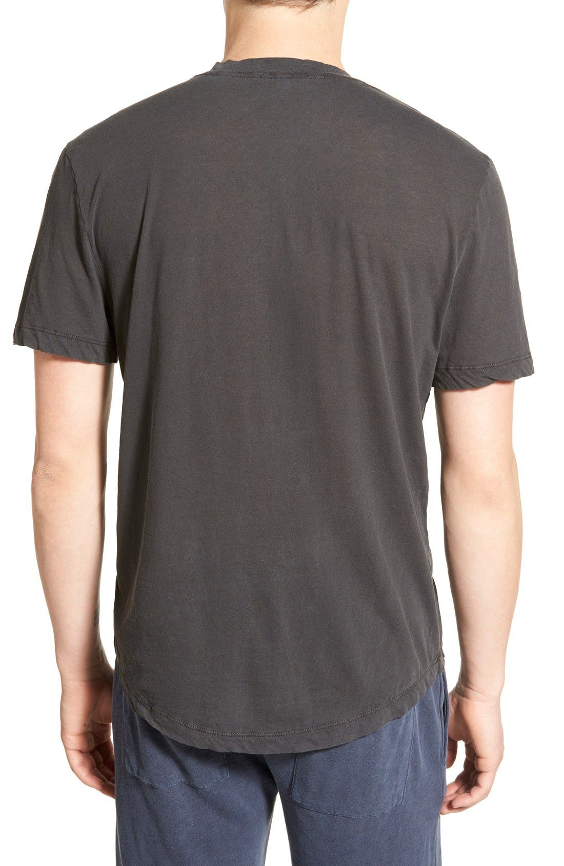 'Clear Jersey' Mélange V-Neck T-Shirt,                             Alternate thumbnail 24, color,