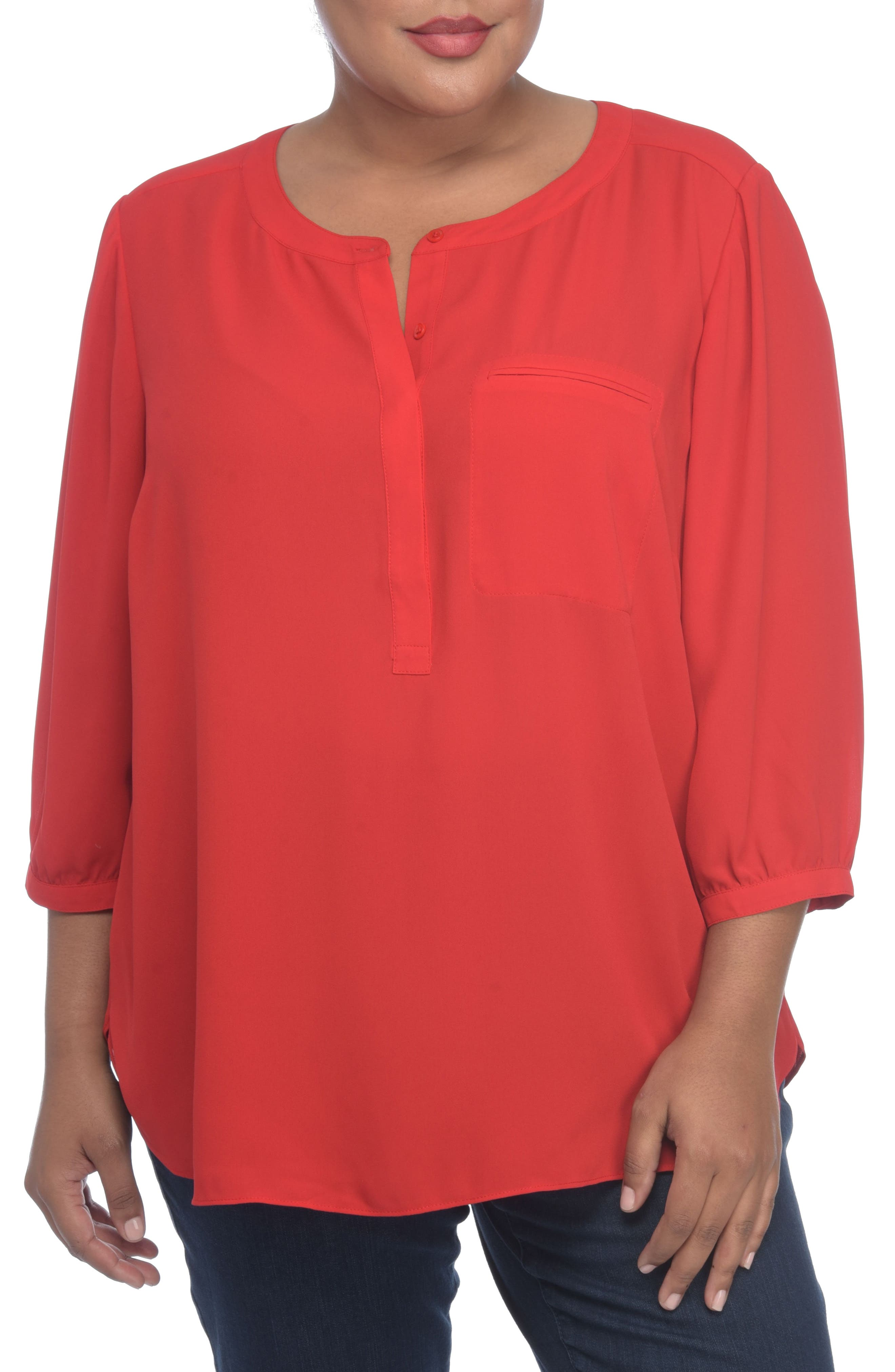 Henley Top,                             Alternate thumbnail 170, color,