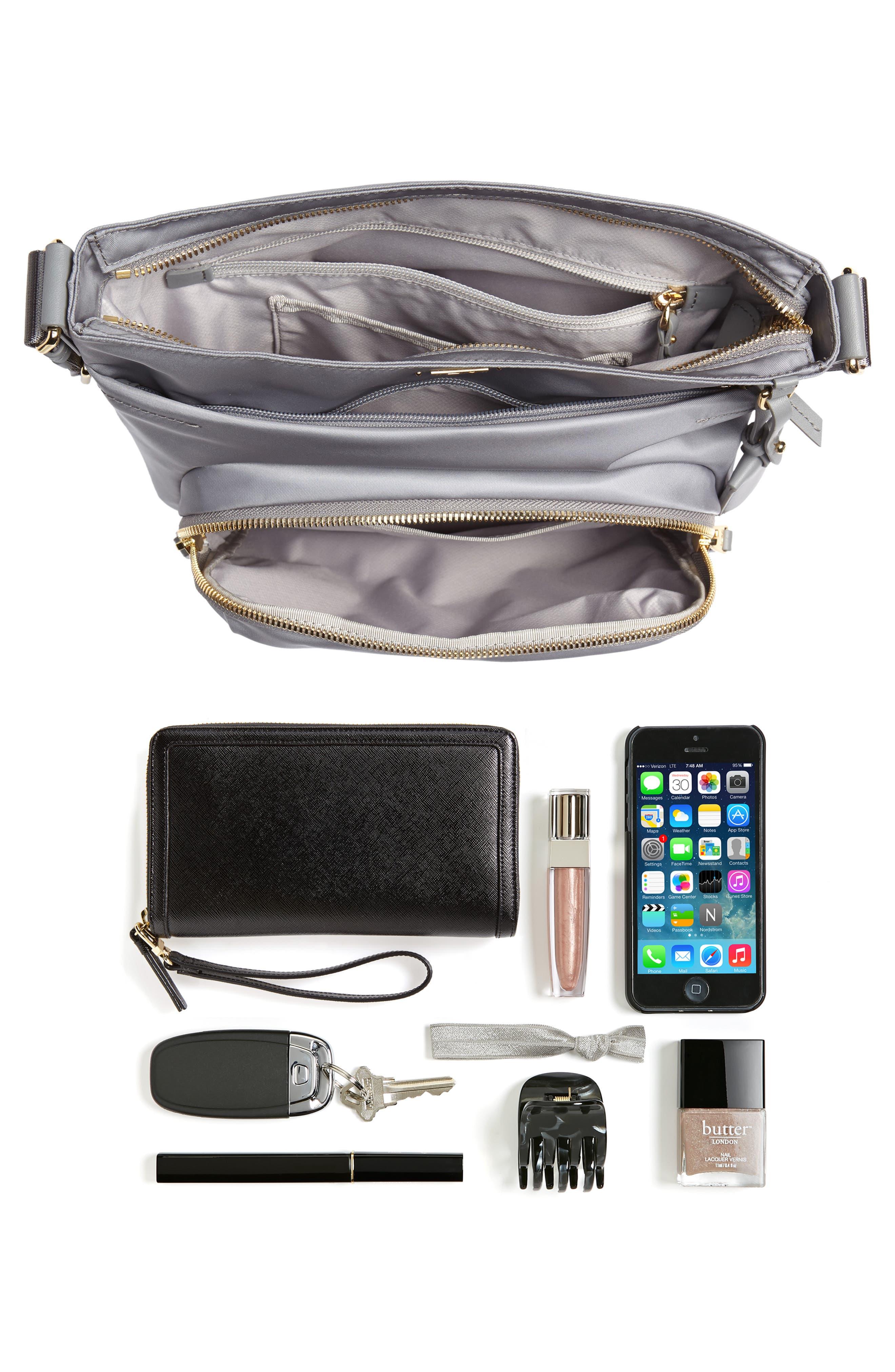 Voyager - Capri Nylon Crossbody Bag,                             Alternate thumbnail 7, color,                             020