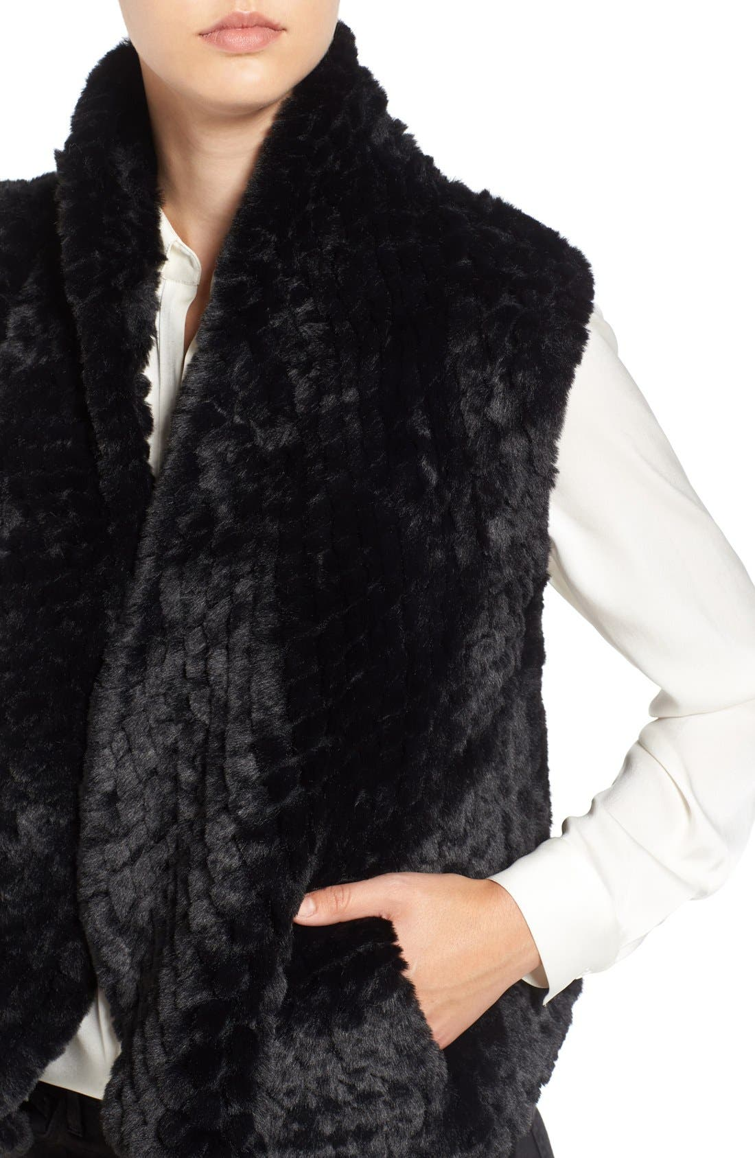 Faux Fur Vest,                             Alternate thumbnail 11, color,