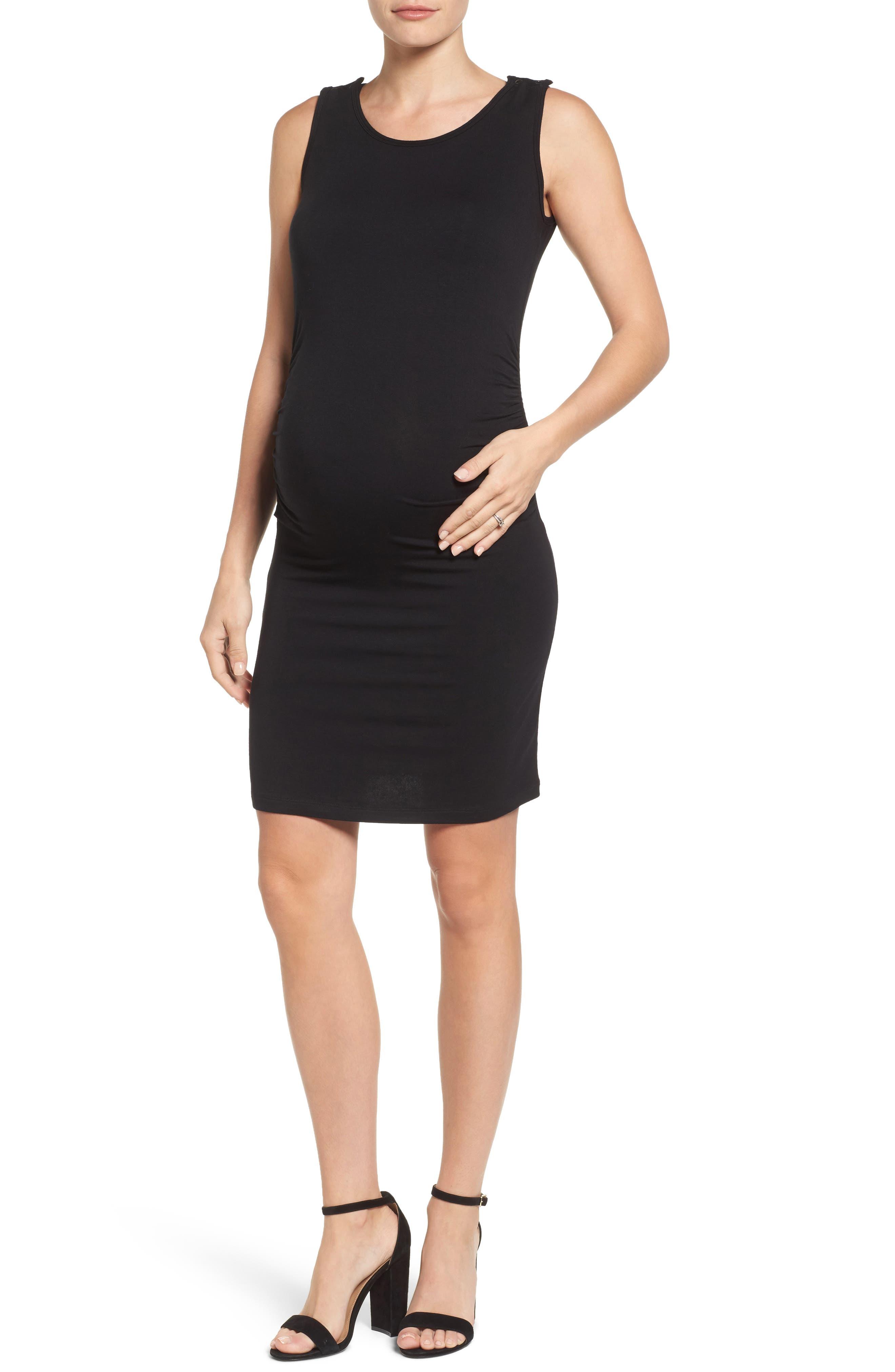 Maternity/Nursing Tank Dress, Main, color, 001