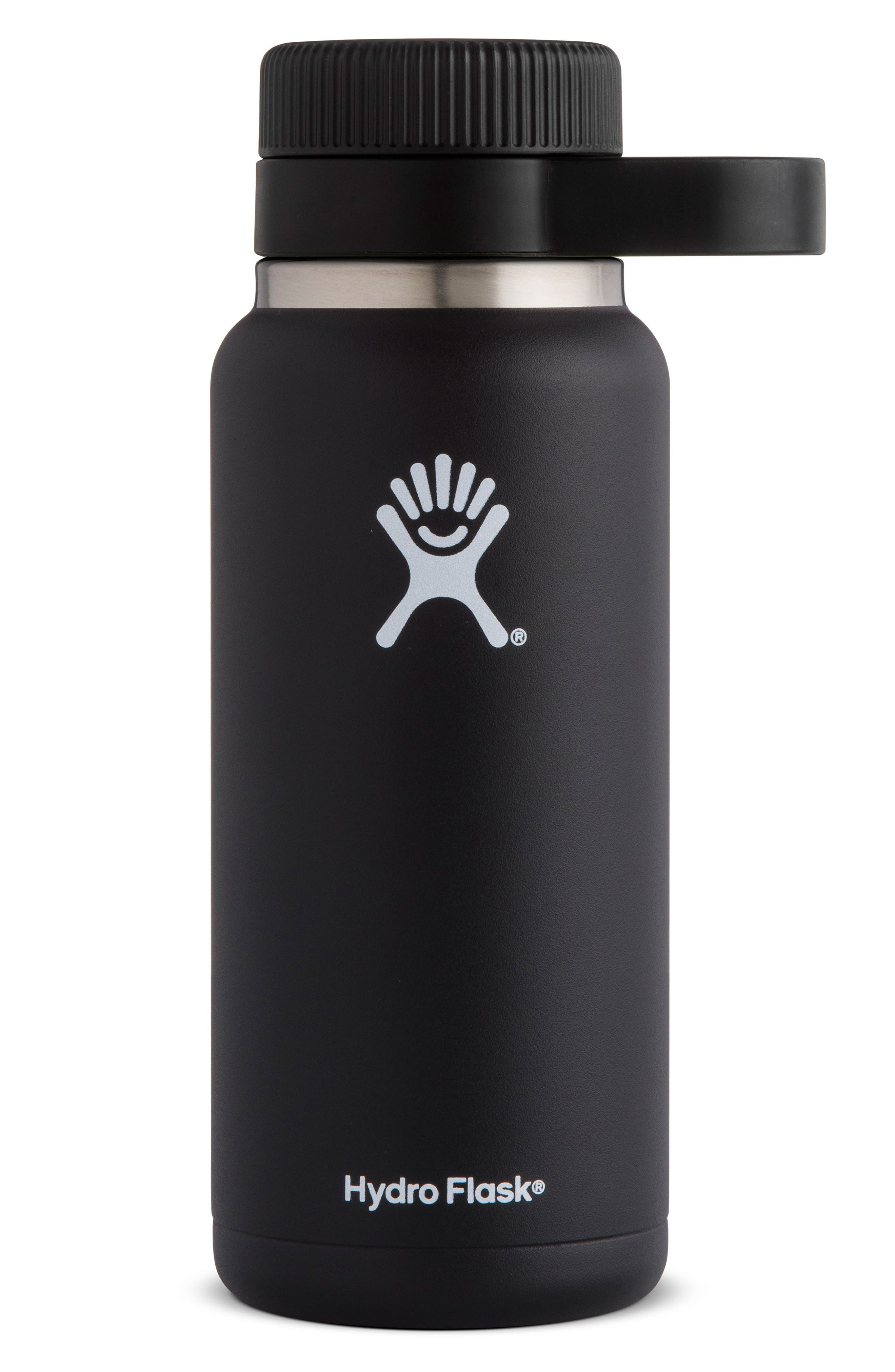 32-Ounce Wide Mouth Growler,                         Main,                         color, BLACK