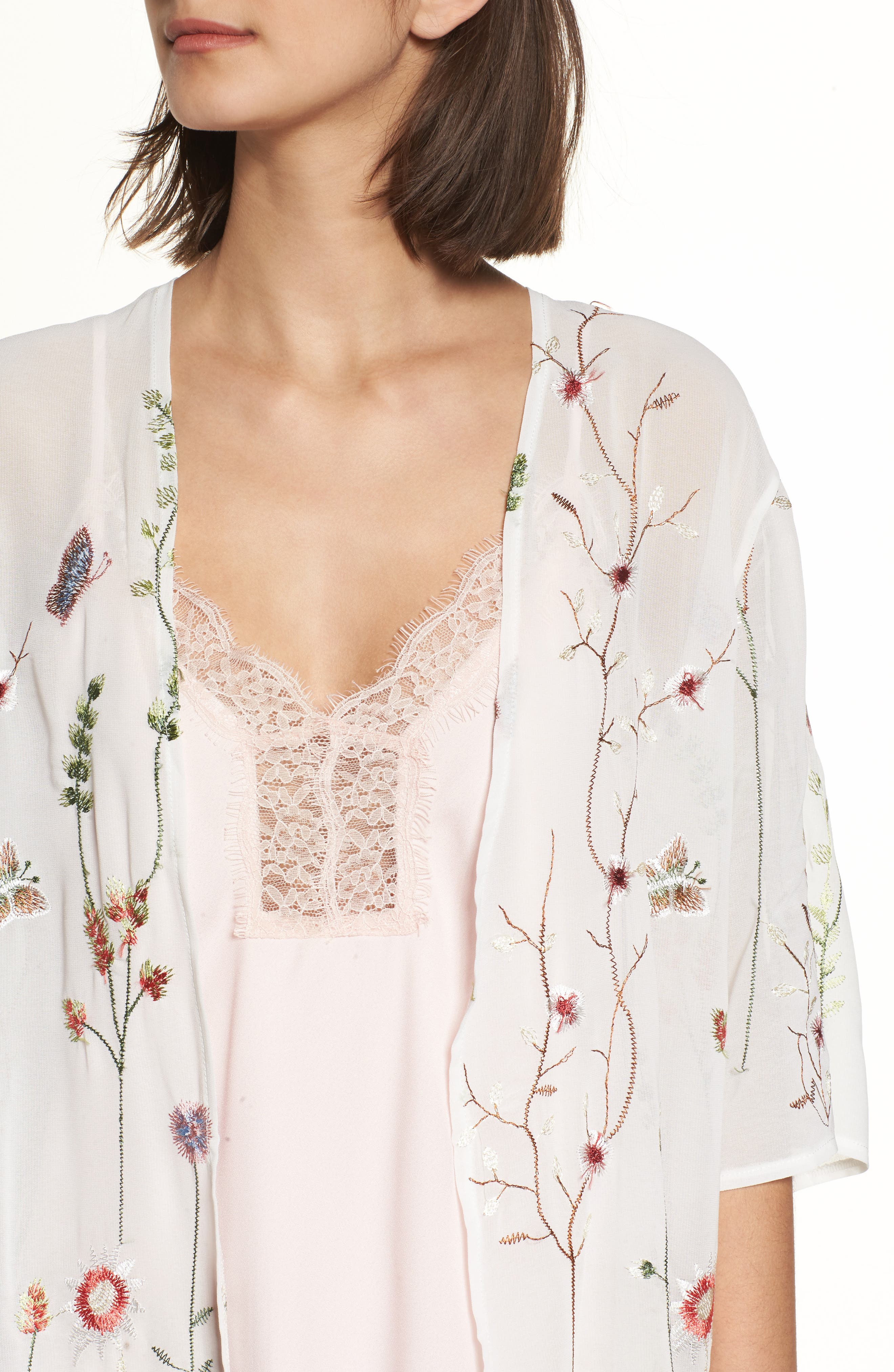 Embroidered Kimono,                             Alternate thumbnail 4, color,                             900