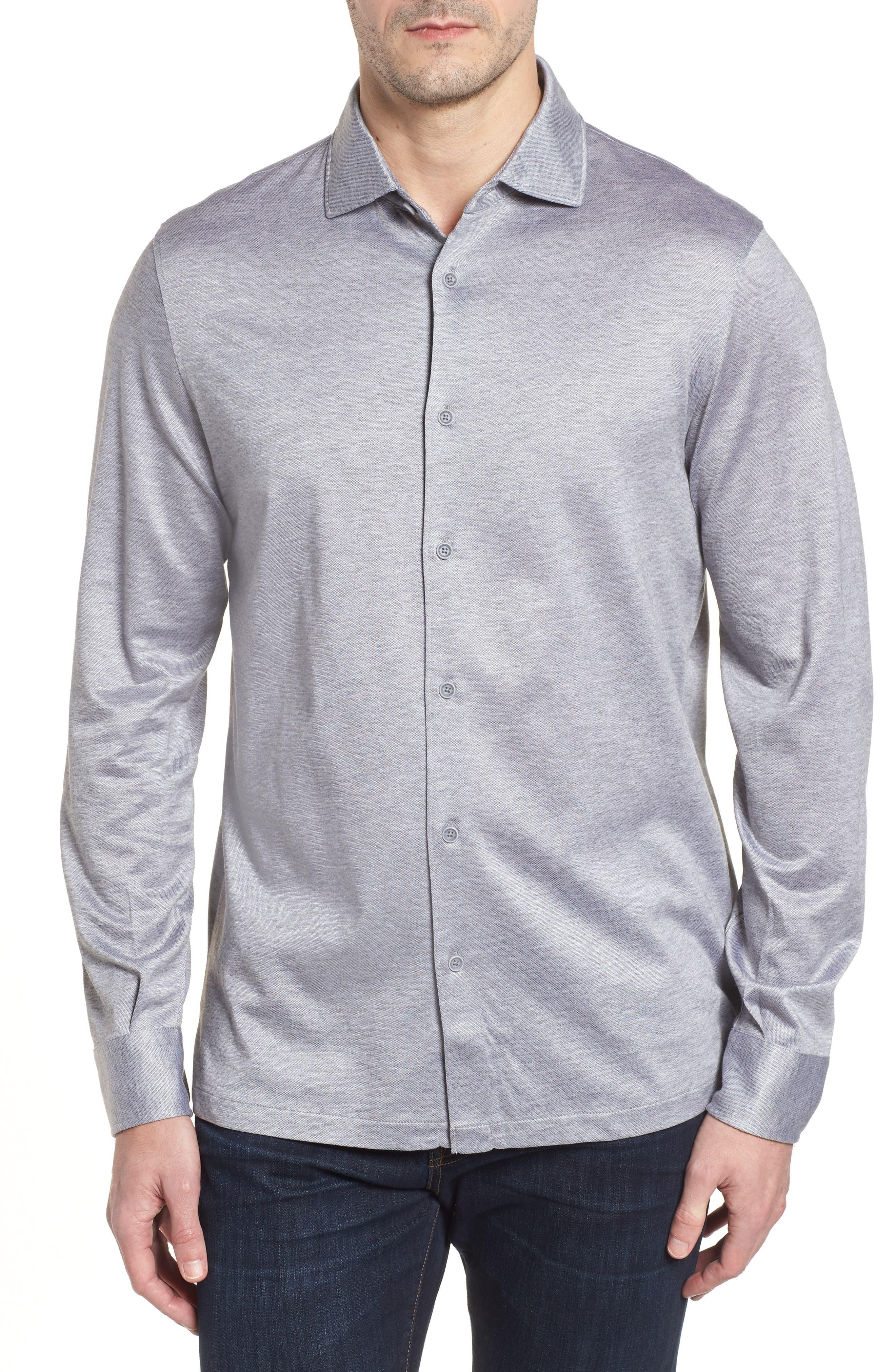 Regular Fit Silk Blend Sport Shirt,                             Main thumbnail 2, color,