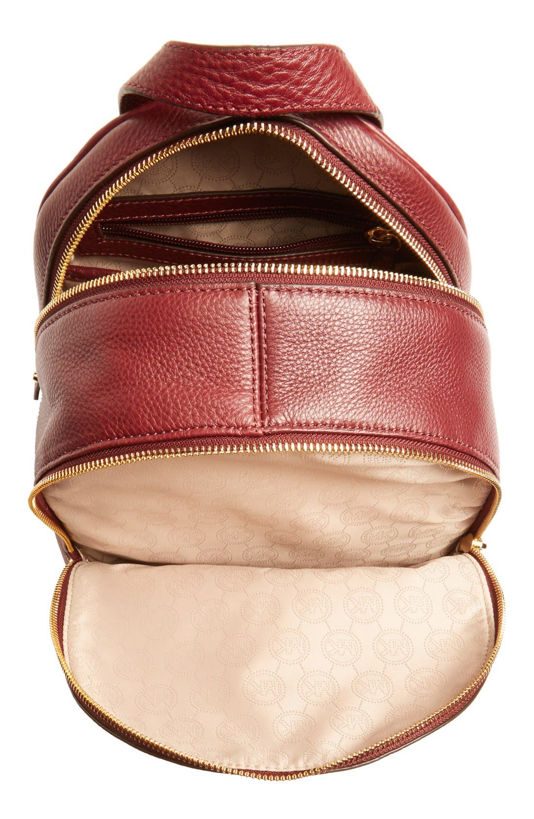 'Extra Small Rhea Zip' Leather Backpack,                             Alternate thumbnail 27, color,