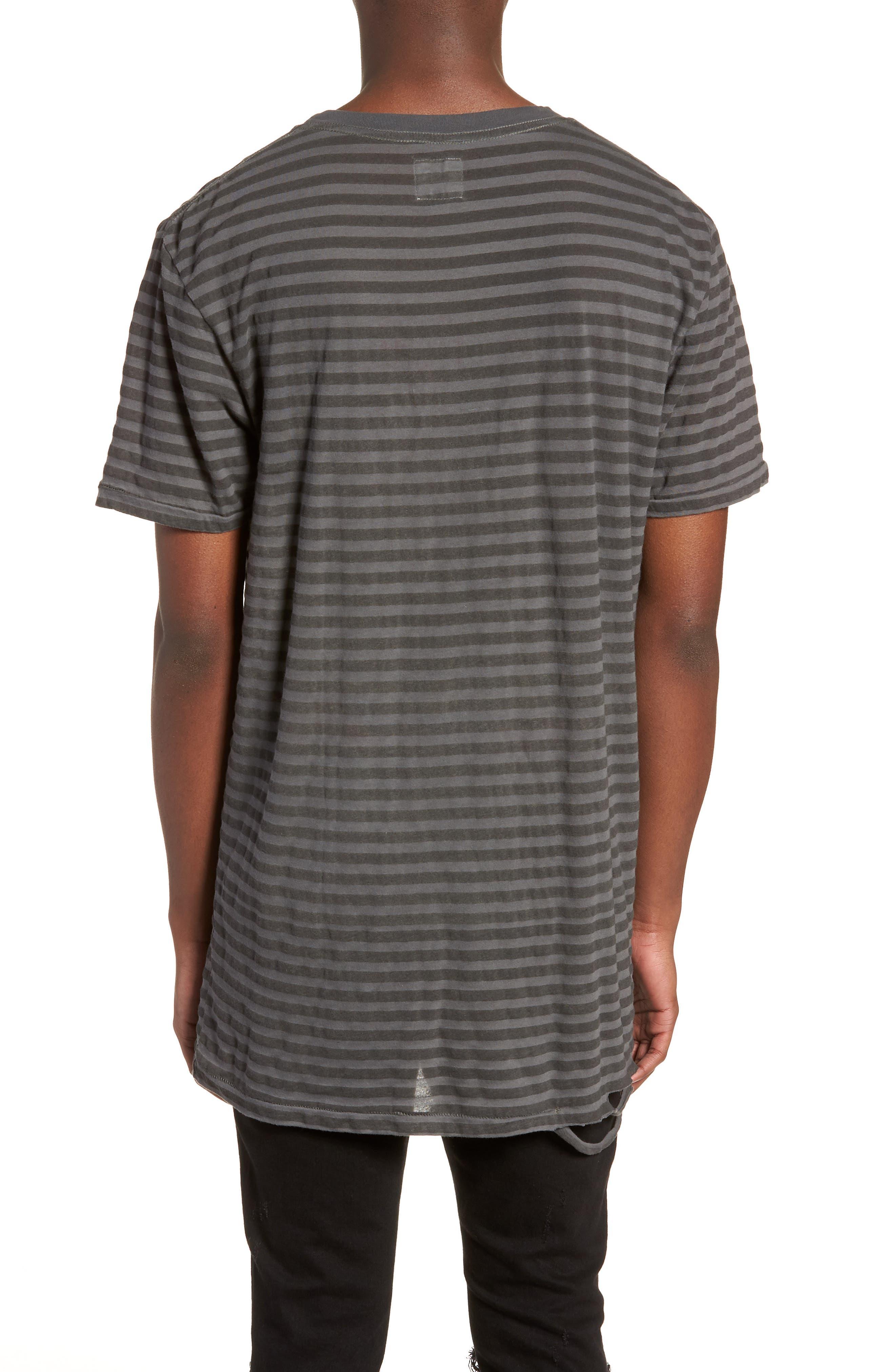 1CM Stripe T-Shirt,                             Alternate thumbnail 2, color,                             KHAKI/ BLACK STRIPE
