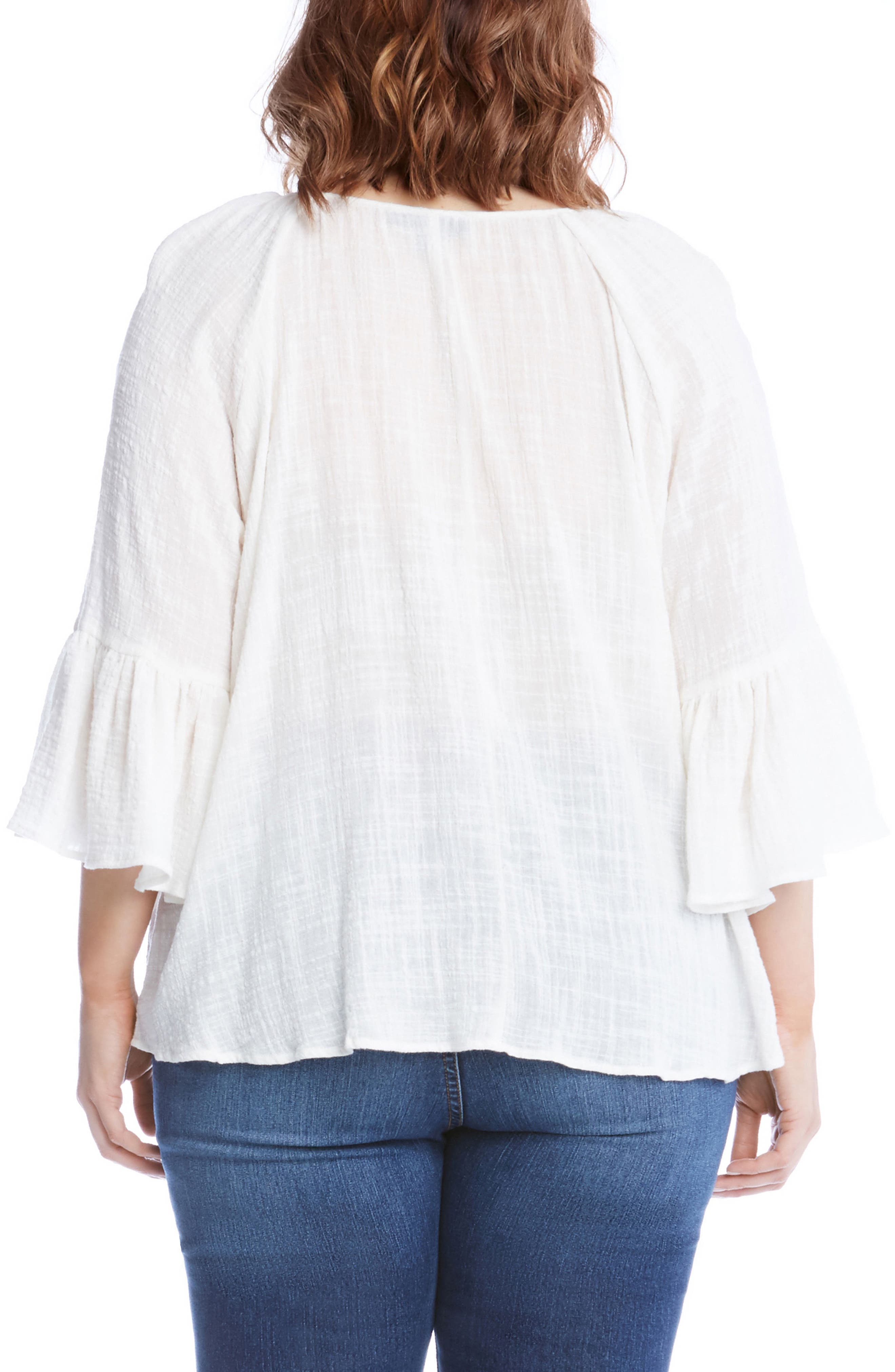 Bell Sleeve Top,                             Alternate thumbnail 2, color,                             900