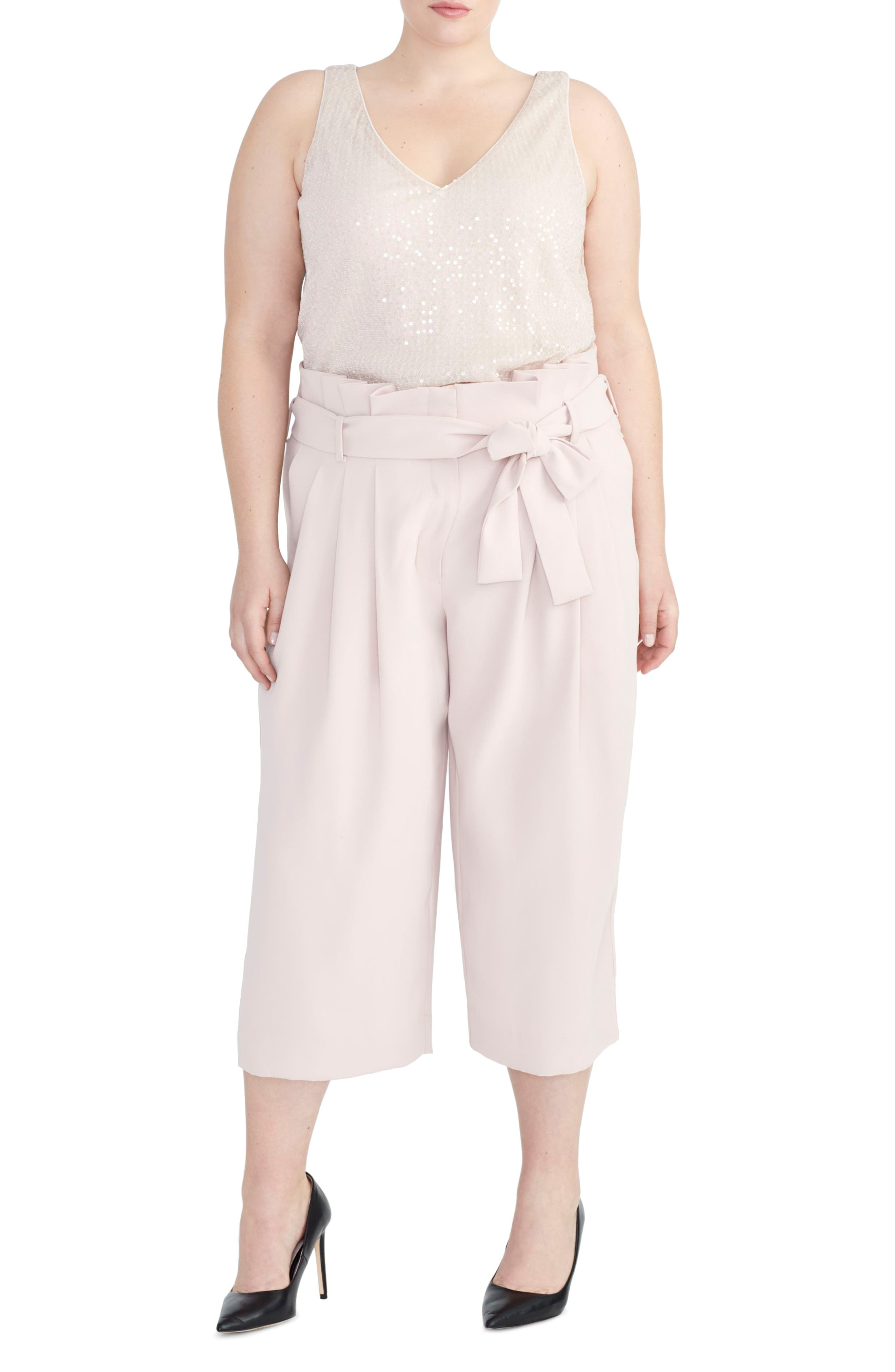 Plus Size Rachel Roy Collection Sequin Camisole, Pink