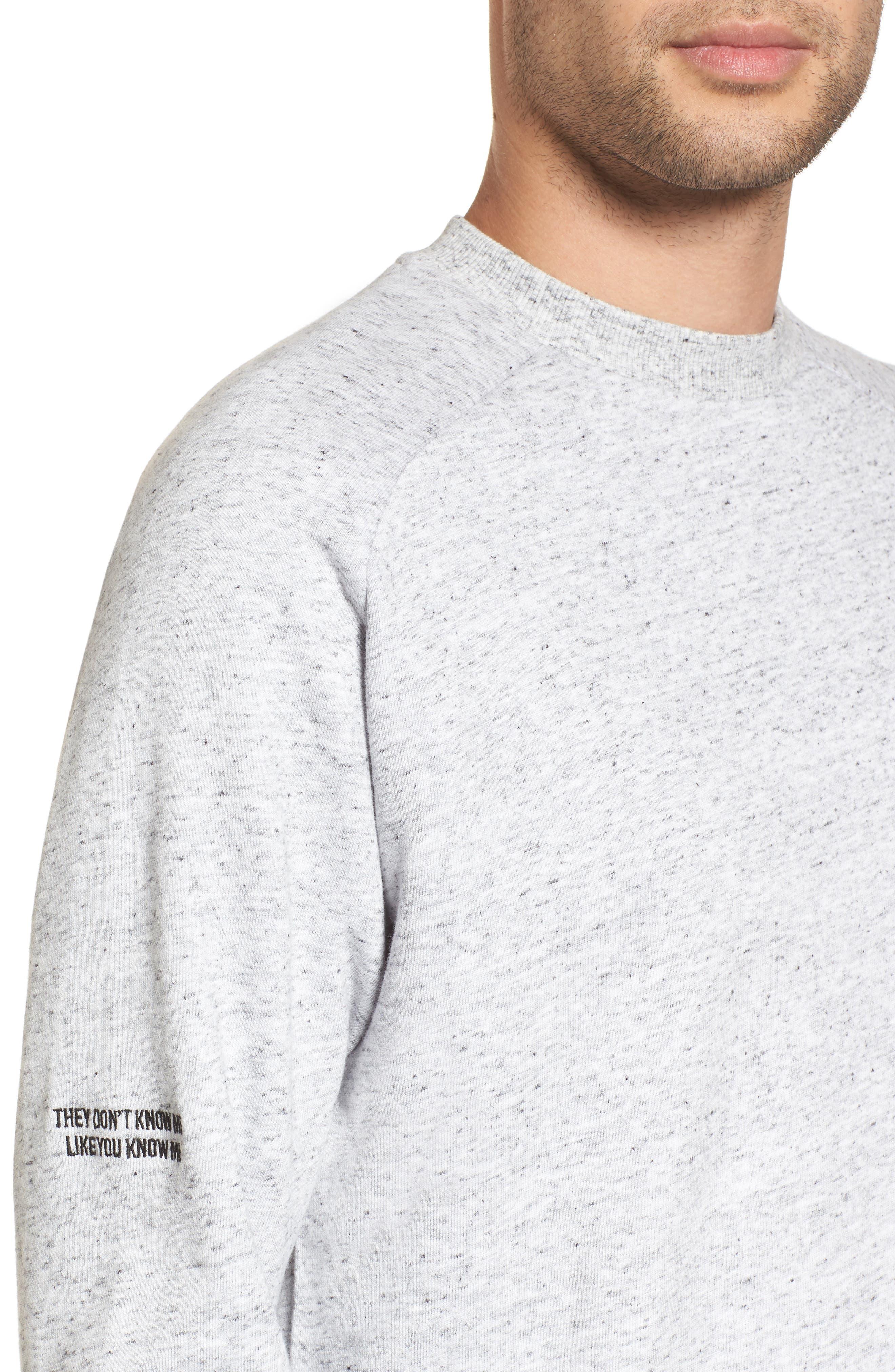 Torn Crew Sweatshirt,                             Alternate thumbnail 4, color,                             059