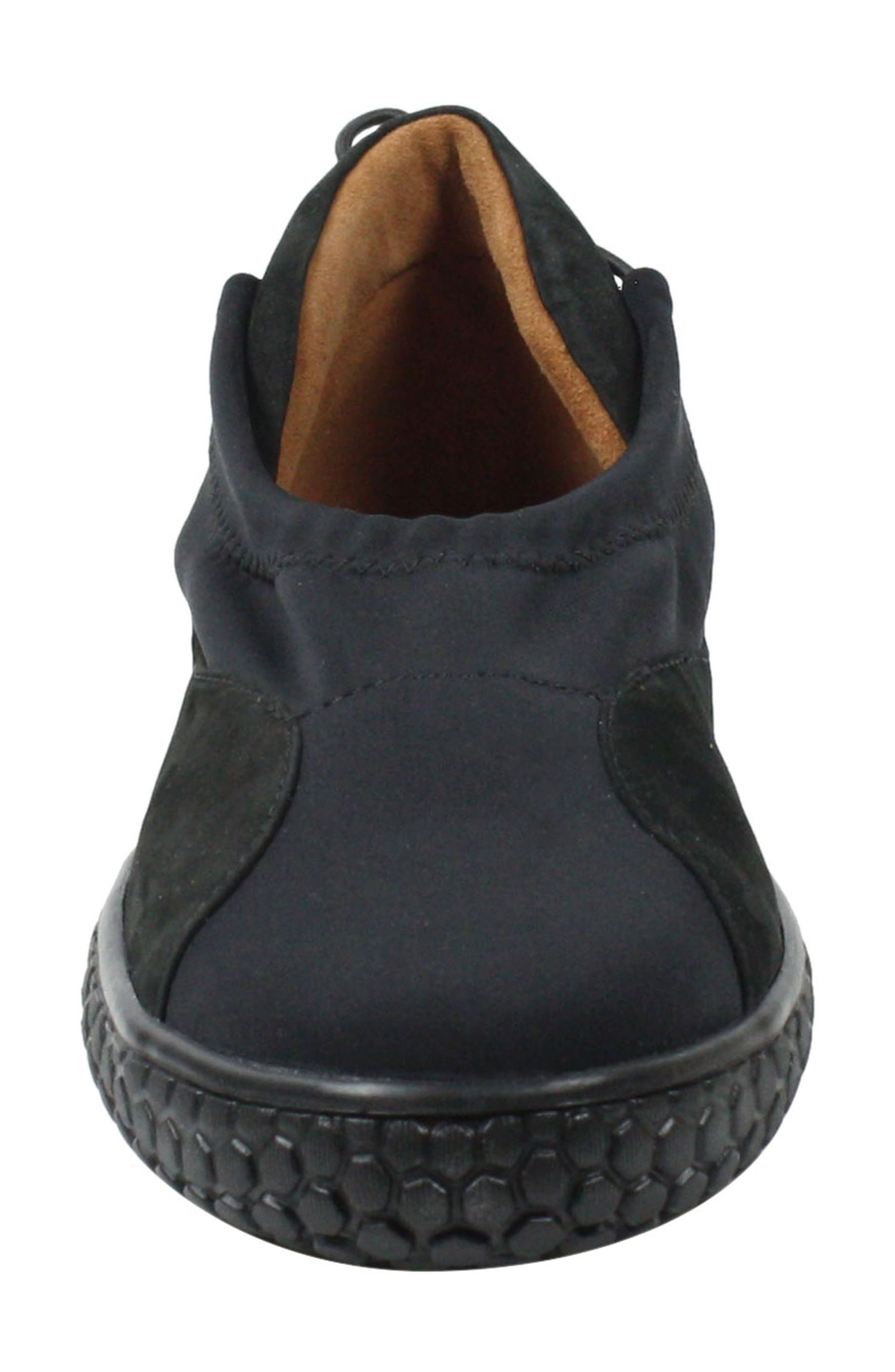 Zaidee Flat,                             Alternate thumbnail 4, color,                             BLACK NUBUCK LEATHER