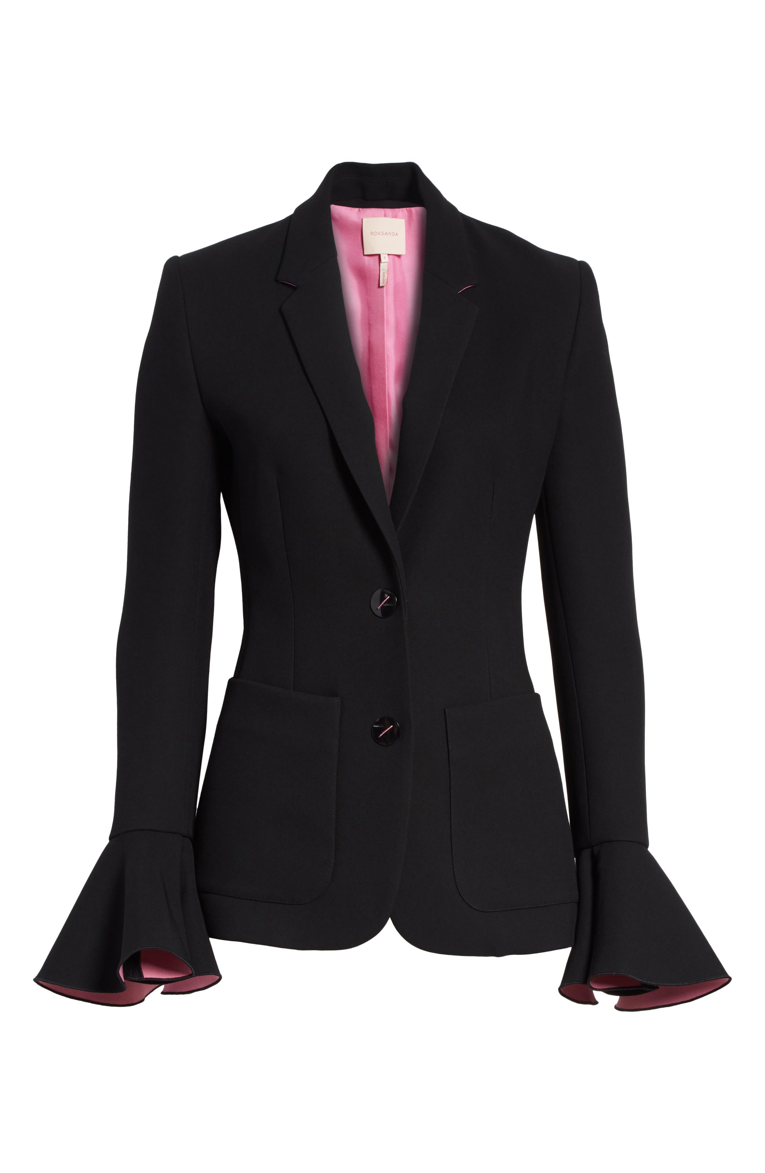 Riva Jacket,                             Alternate thumbnail 5, color,                             BLACK