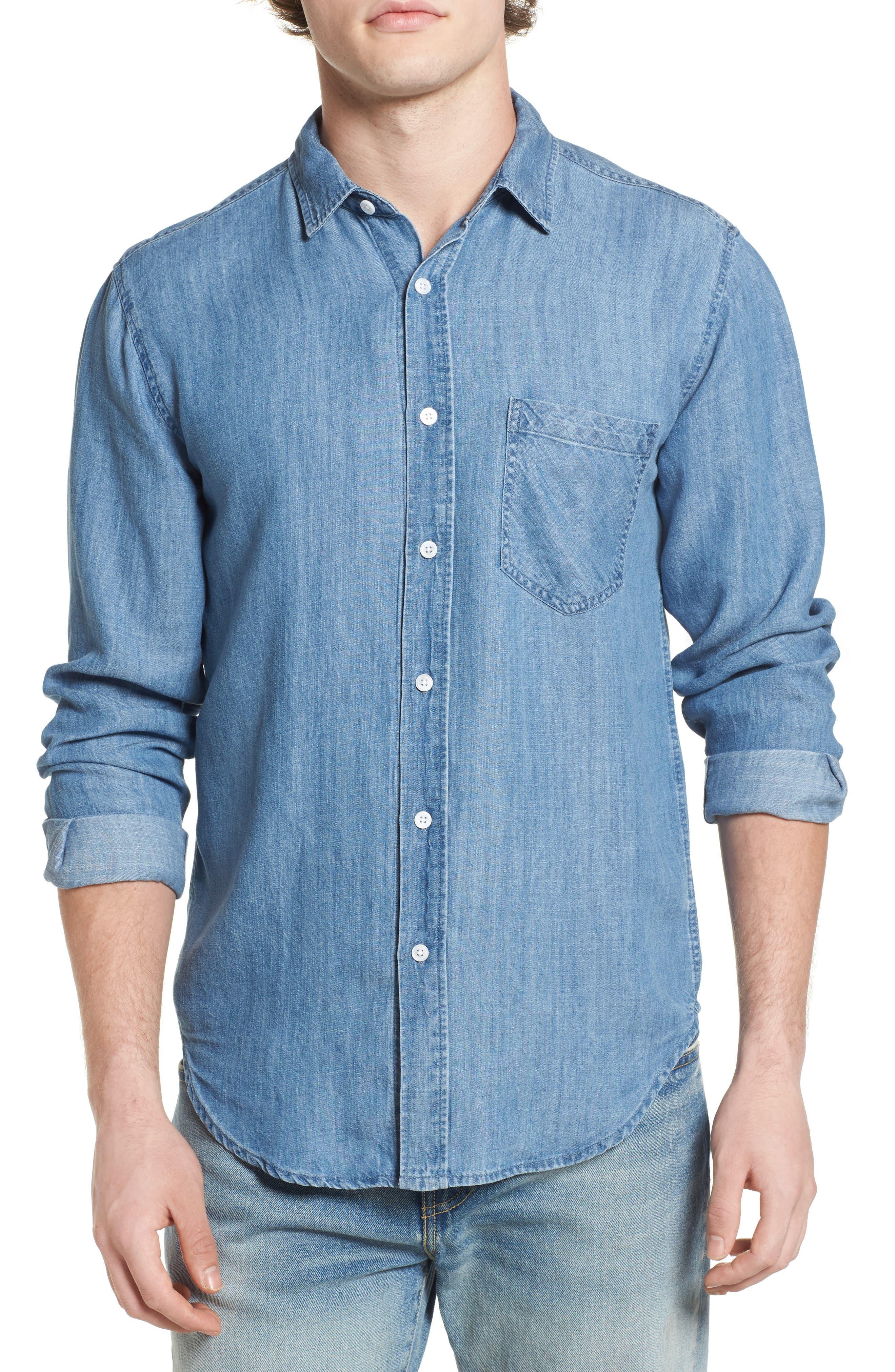 Colton Denim Shirt,                         Main,                         color, MEDIUM VINTAGE WASH