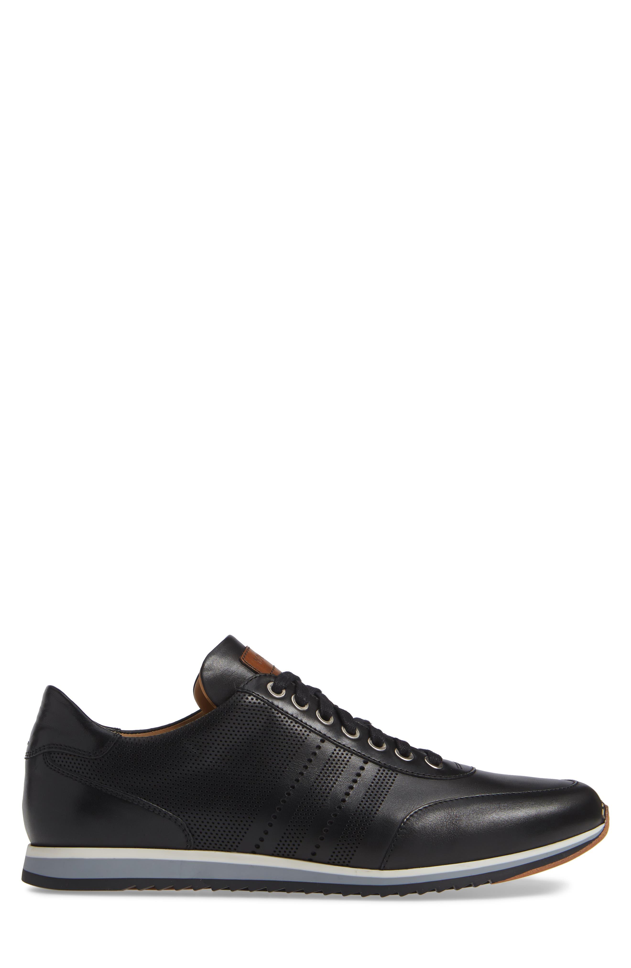 Merino Sneaker,                             Alternate thumbnail 3, color,                             BLACK LEATHER