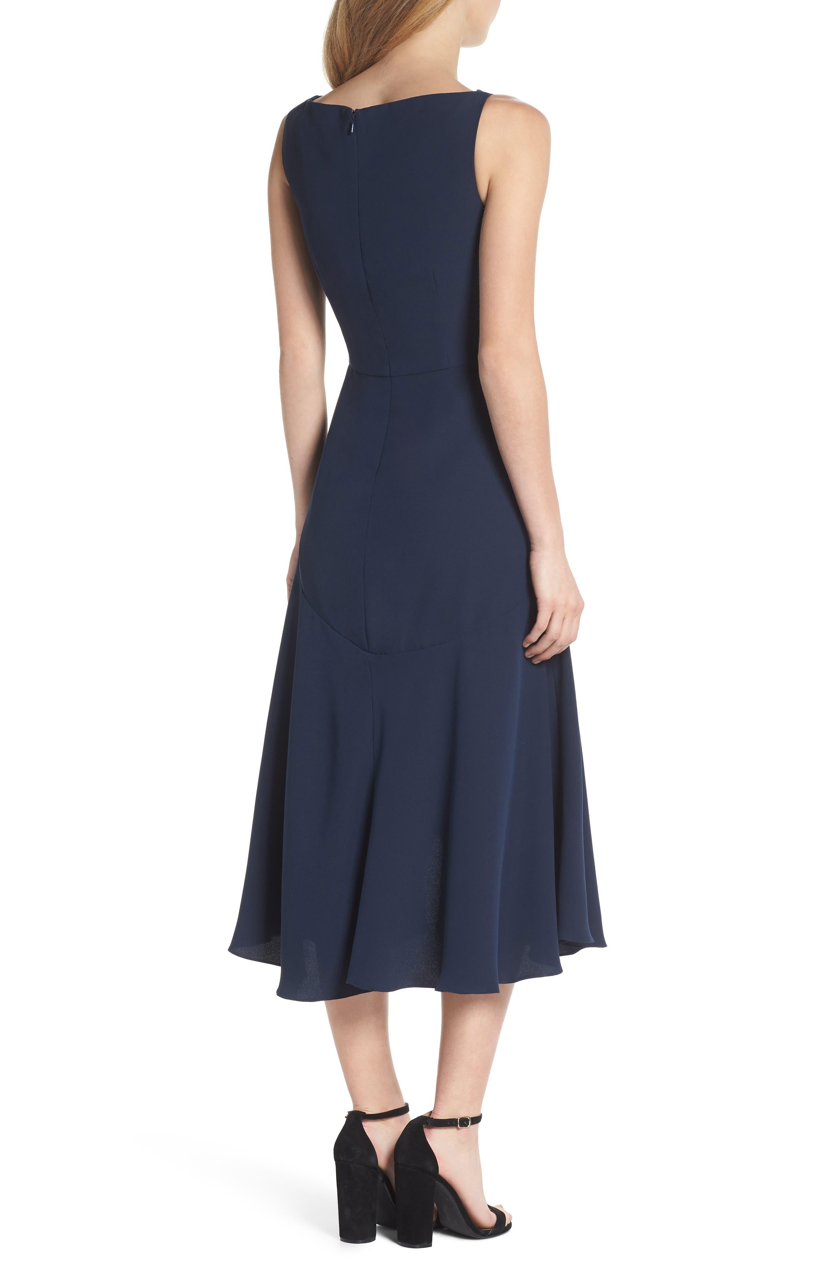 Juliet Cowl Neck Crepe Dress,                             Alternate thumbnail 2, color,                             419