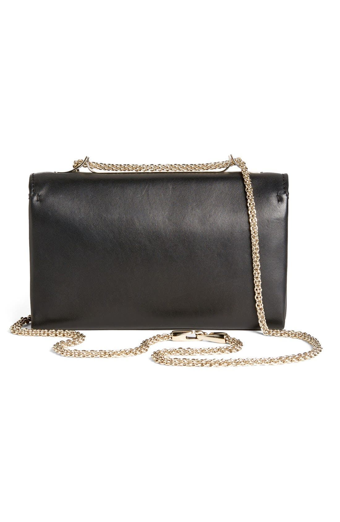 'Va Va Voom' Nappa Leather Shoulder Bag,                             Alternate thumbnail 4, color,                             001