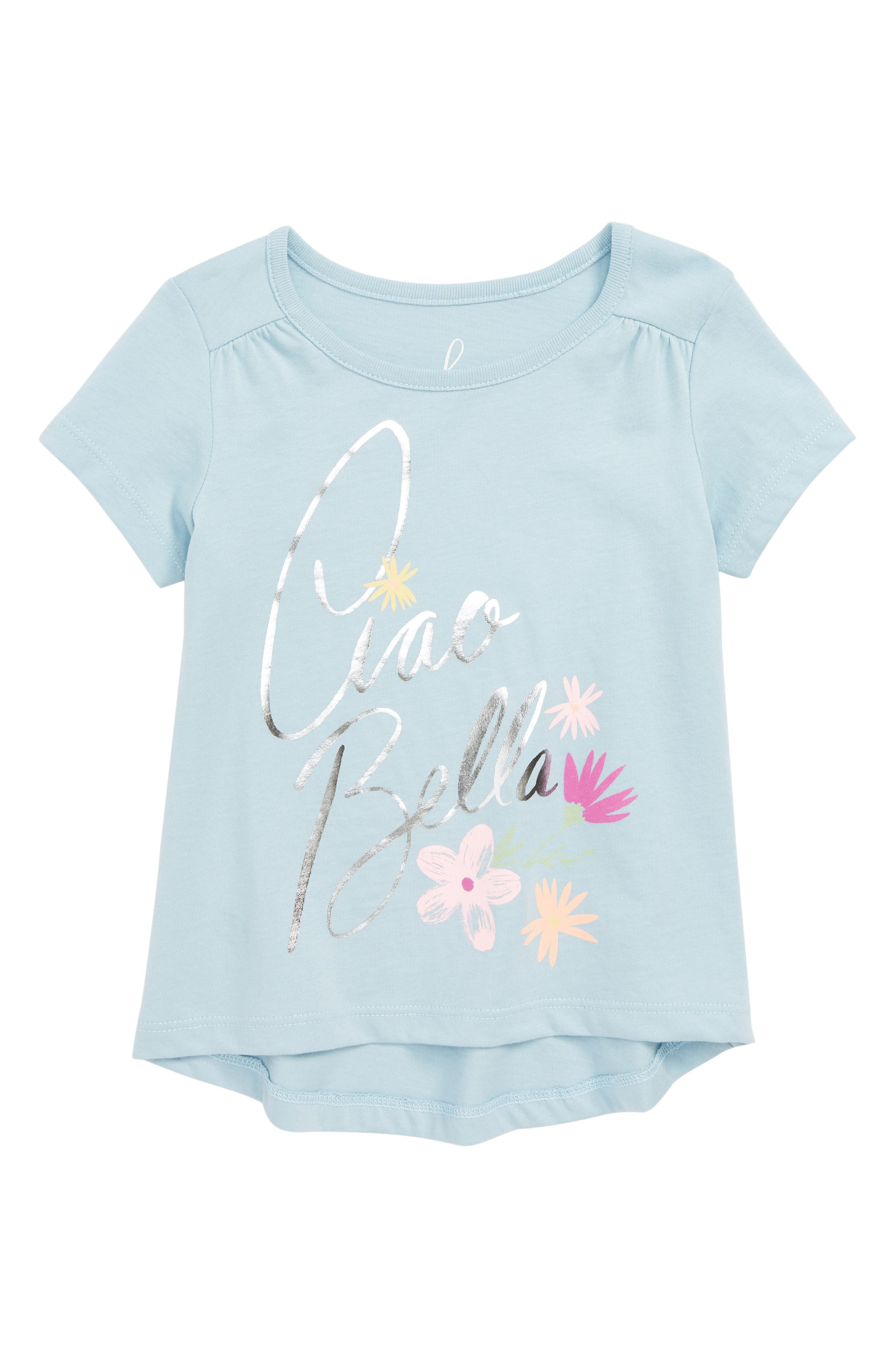 Ciao Bella High/Low Tee,                         Main,                         color, BLUE