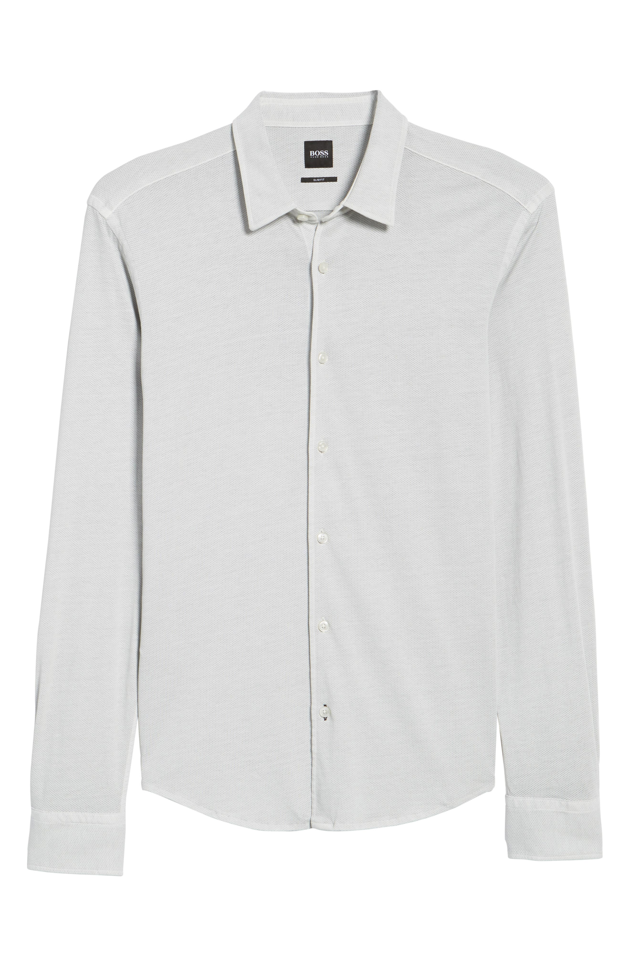 Reid Slim Fit Solid Sport Shirt,                             Alternate thumbnail 6, color,                             071