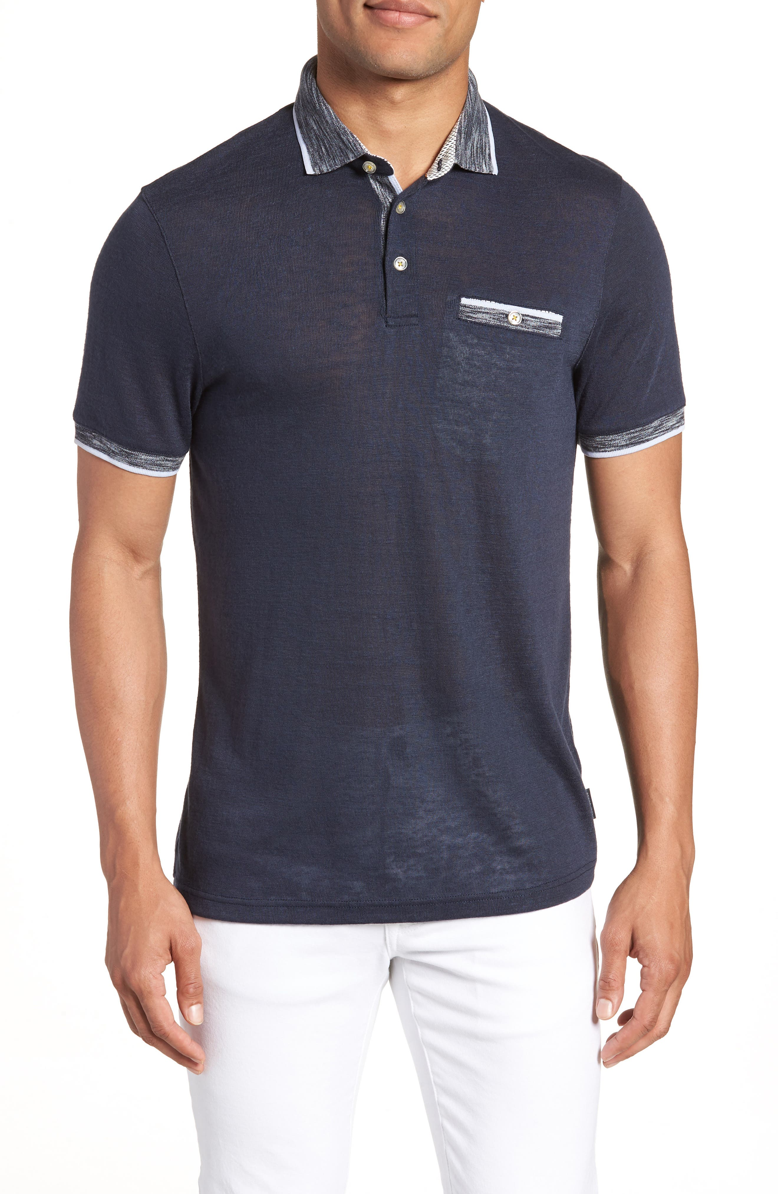 Dalmat Trim Fit Cotton & Modal Polo,                         Main,                         color, 410