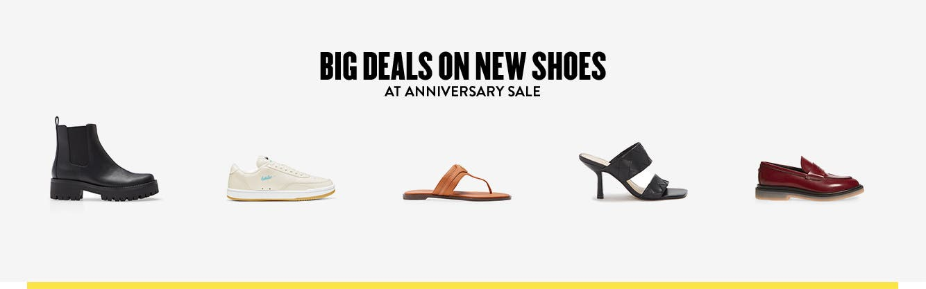 Women's Anniversary Sale shoes: boots, sneakers, sandals, heels and comfort shoes.