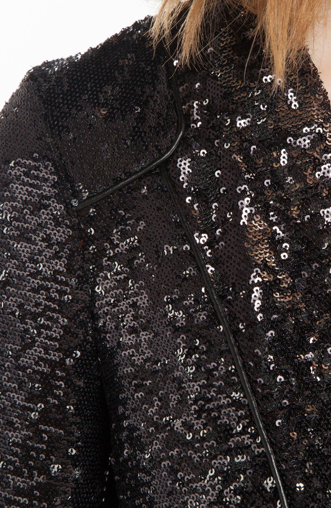 'Doucette' Sequin Jacket,                             Alternate thumbnail 3, color,                             001