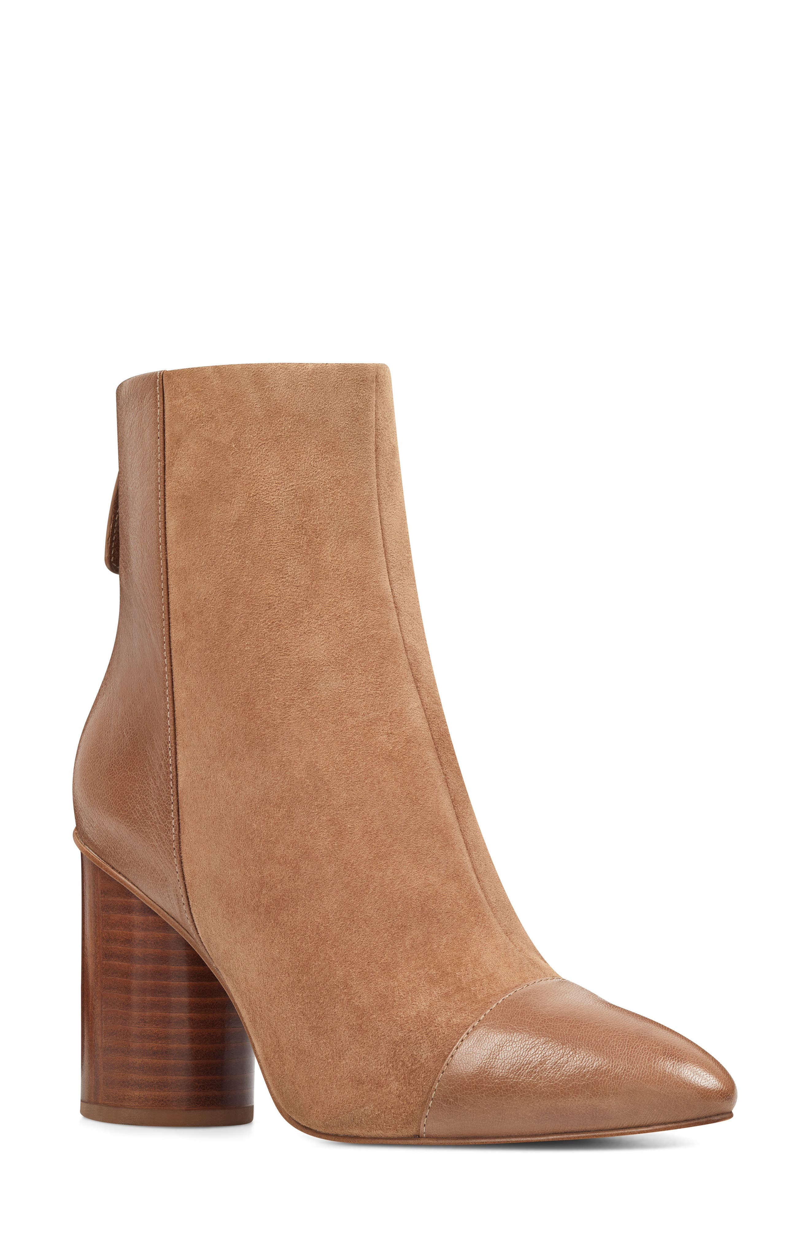 Nine West Cabrillo Cap Toe Bootie, Beige
