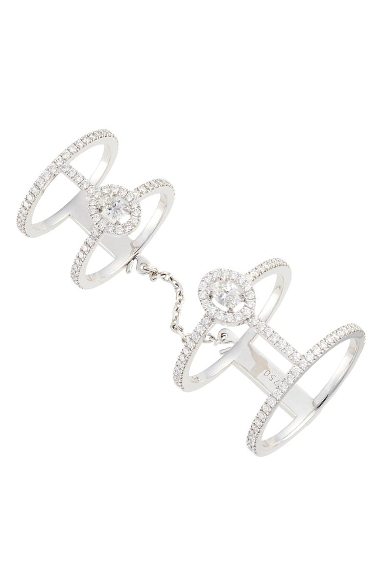 Messika Glam'Azone Double Pavé Diamond Ring