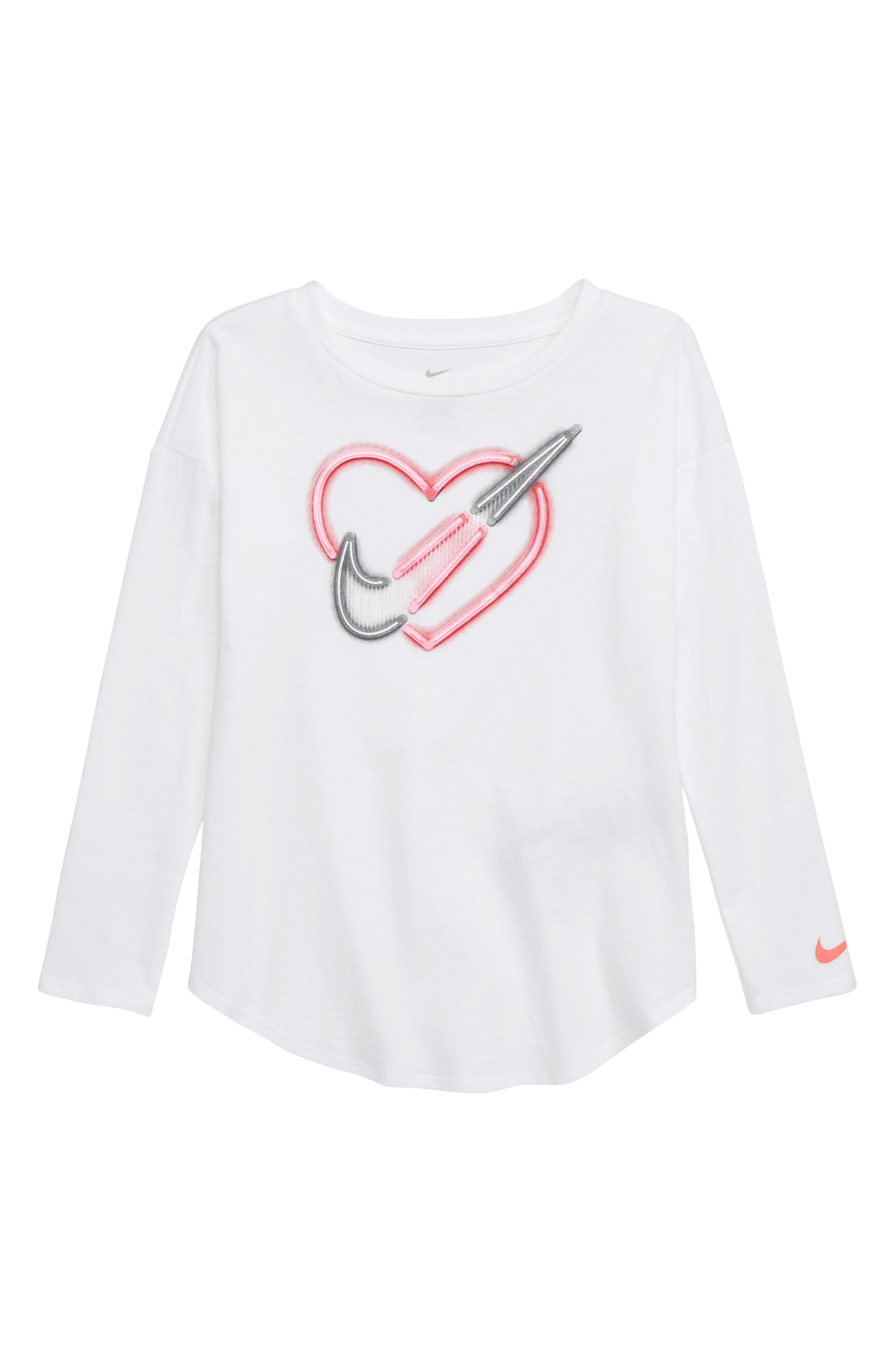 Neon Heart Tee,                         Main,                         color, WHITE