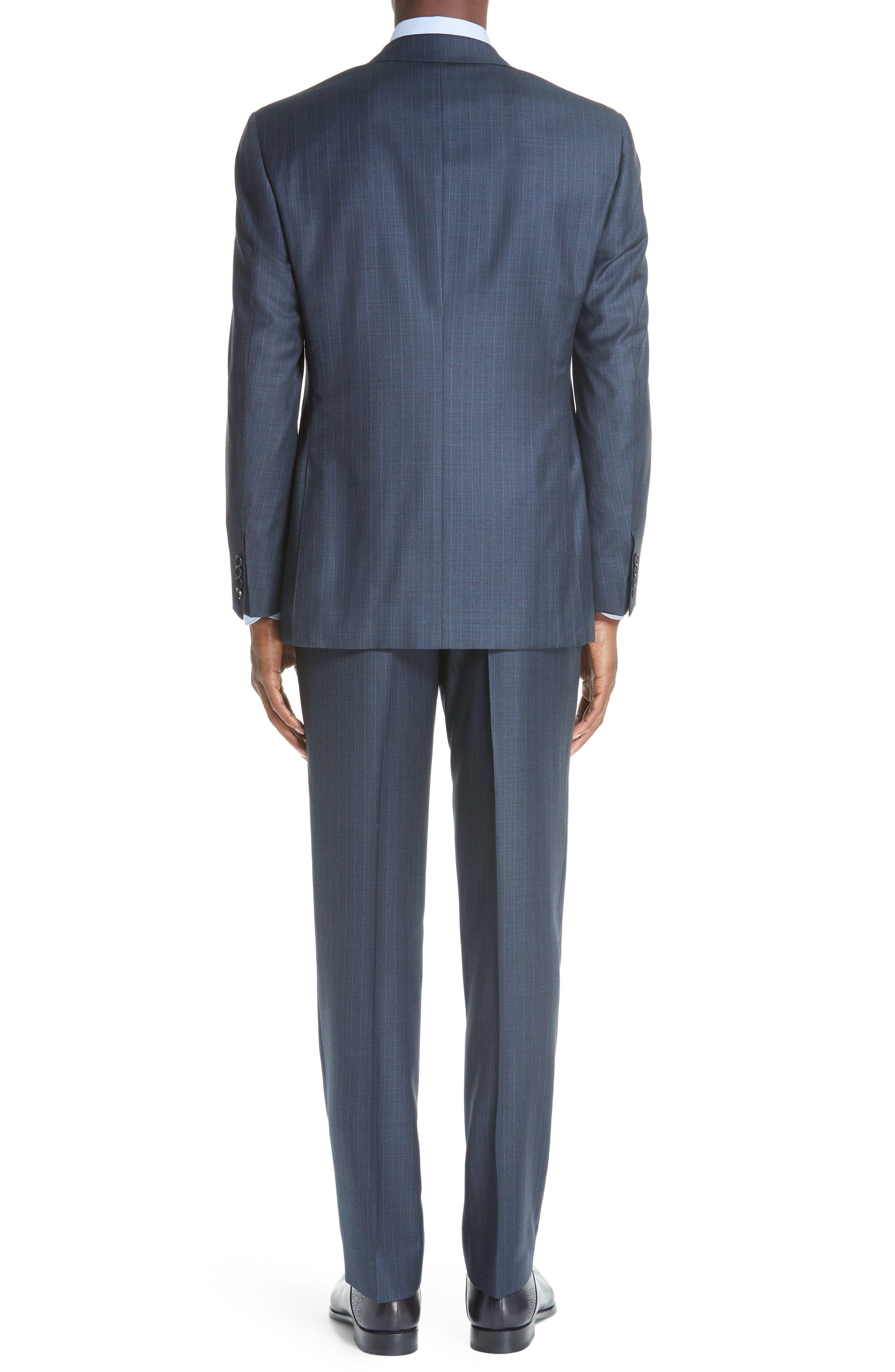 Classic Fit Stripe Wool Suit,                             Alternate thumbnail 2, color,                             400