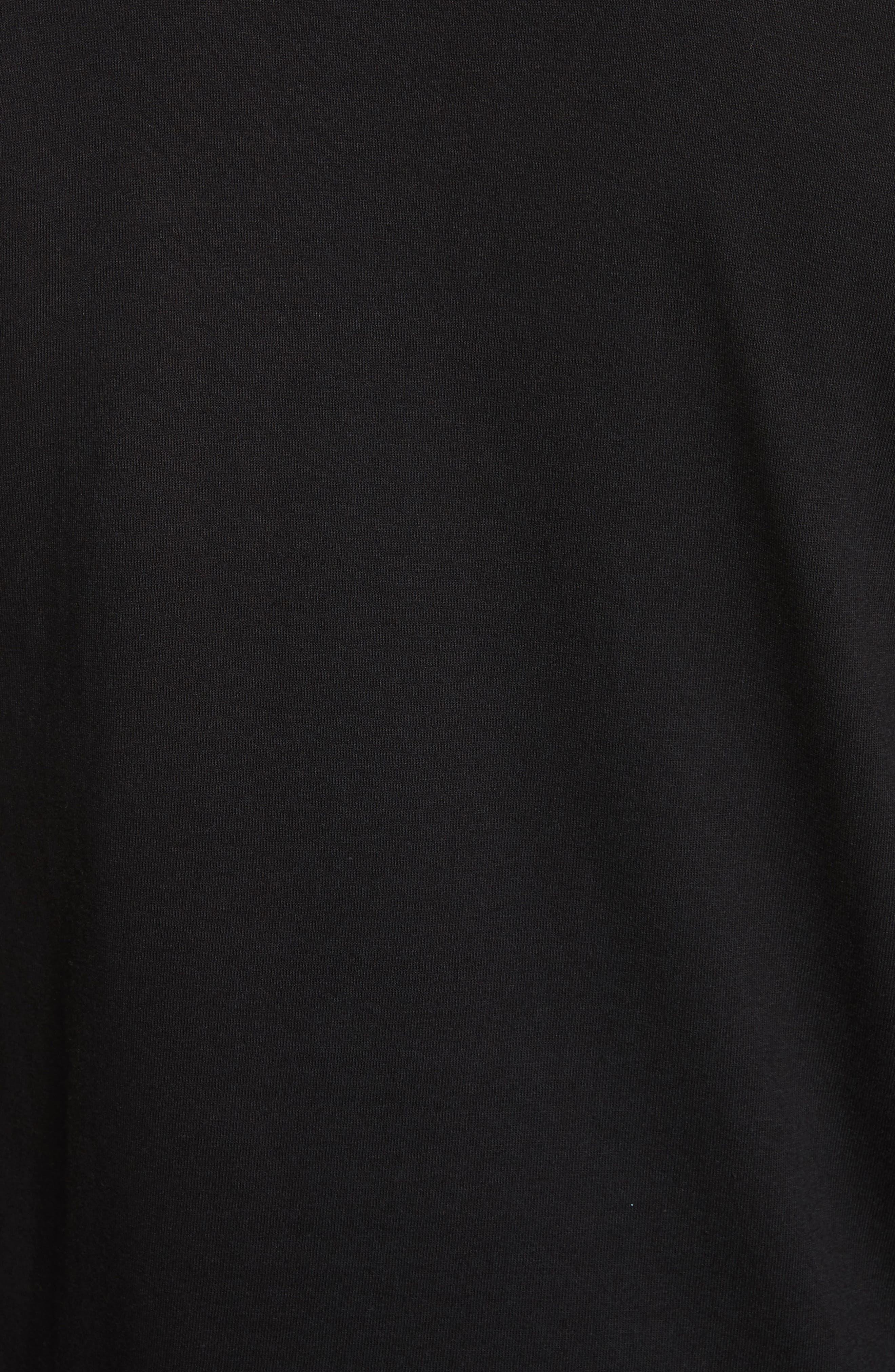 Long Sleeve T-Shirt,                             Alternate thumbnail 5, color,                             BLACK